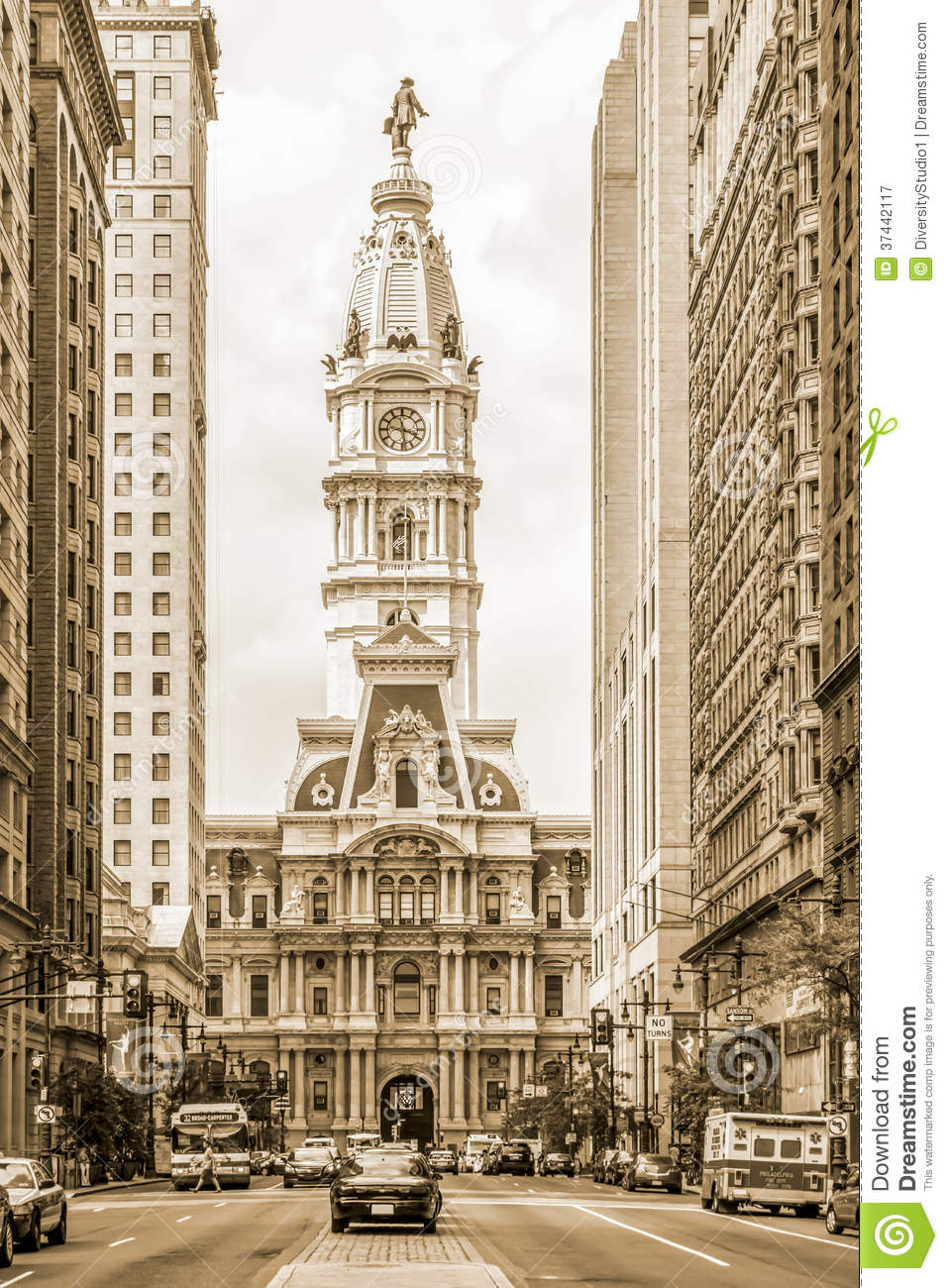 Philadelphia City Hall From South Broad