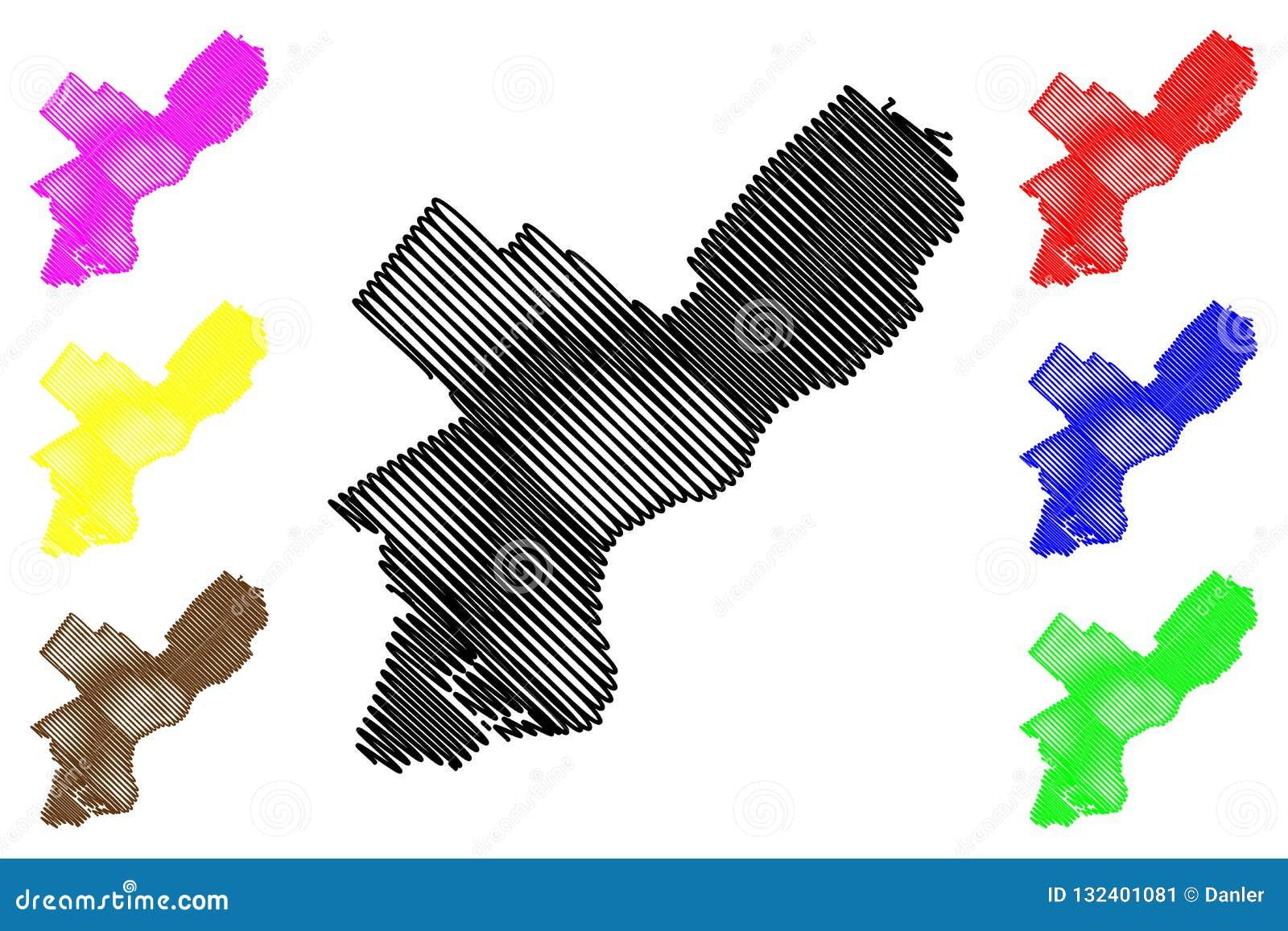 Philadelphia City Map Vector Stock Vector - Illustration of outline ...