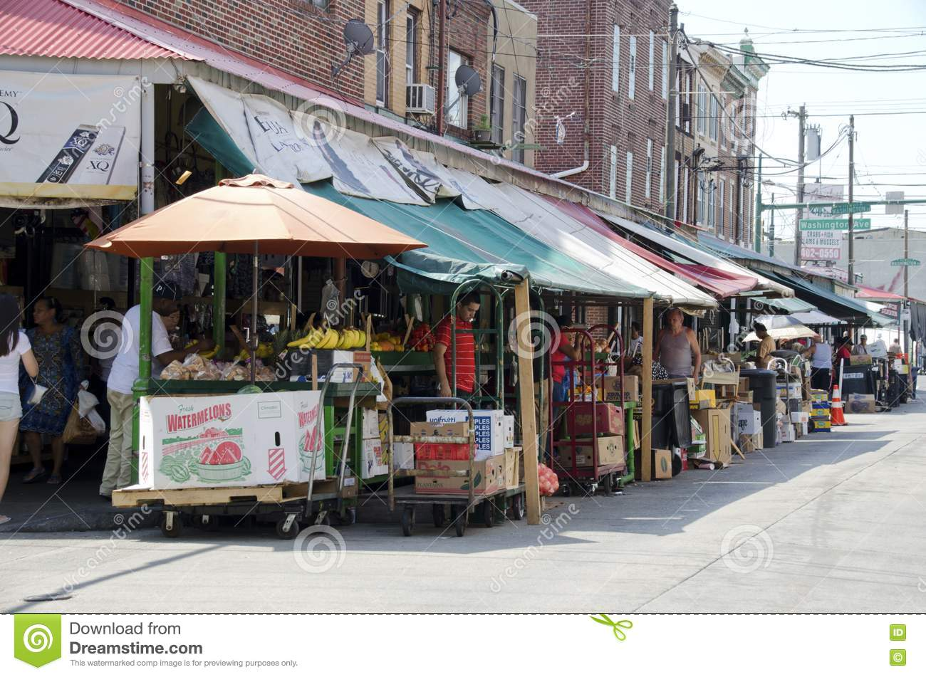 Philadelphia italian market editorial stock photo image for Fish market philadelphia