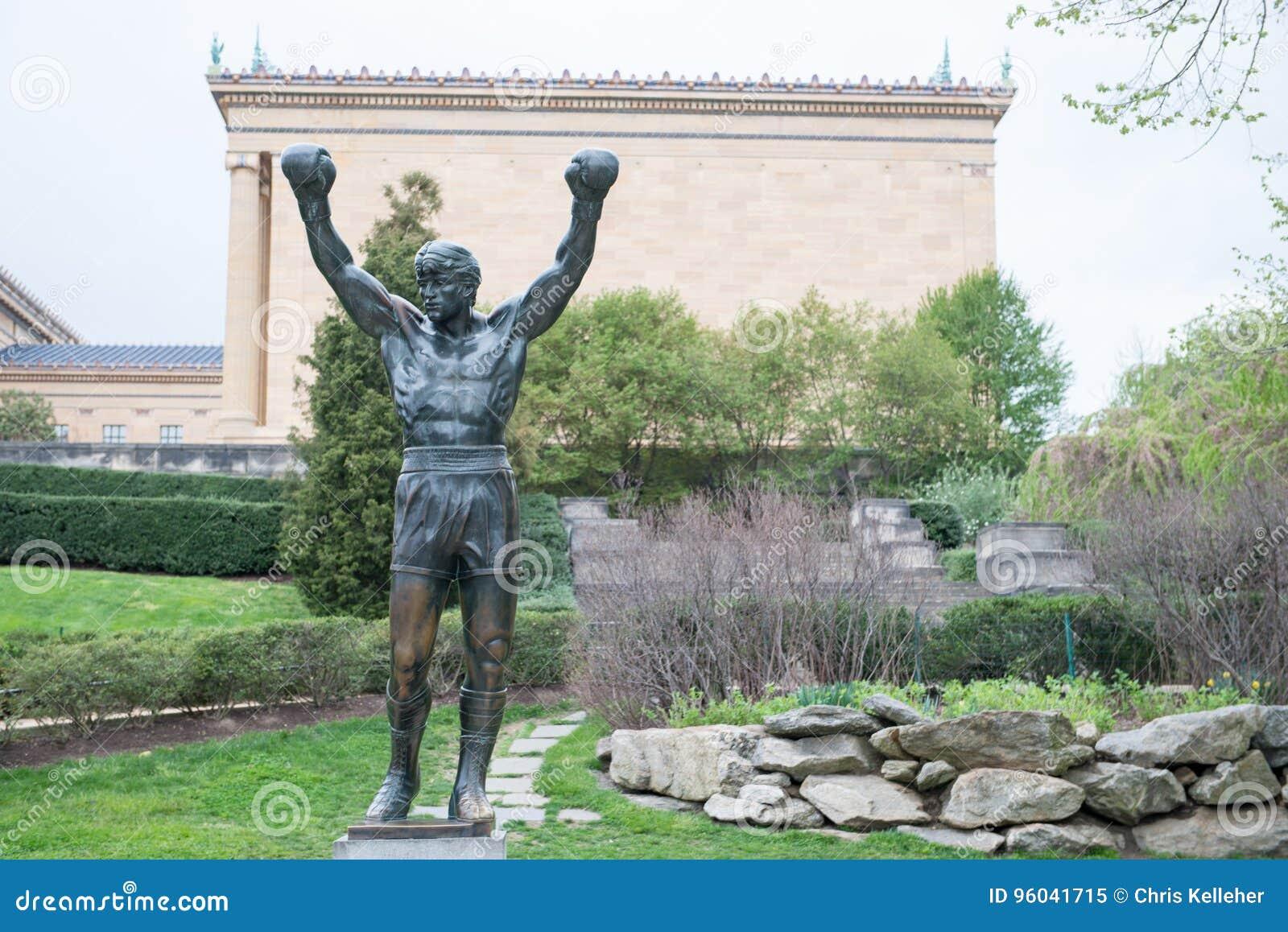 PHILADELPHIA, PA - APRIL 19: The Rocky Statue outside of the Philadelphia Museum of Art on April 19, 2013