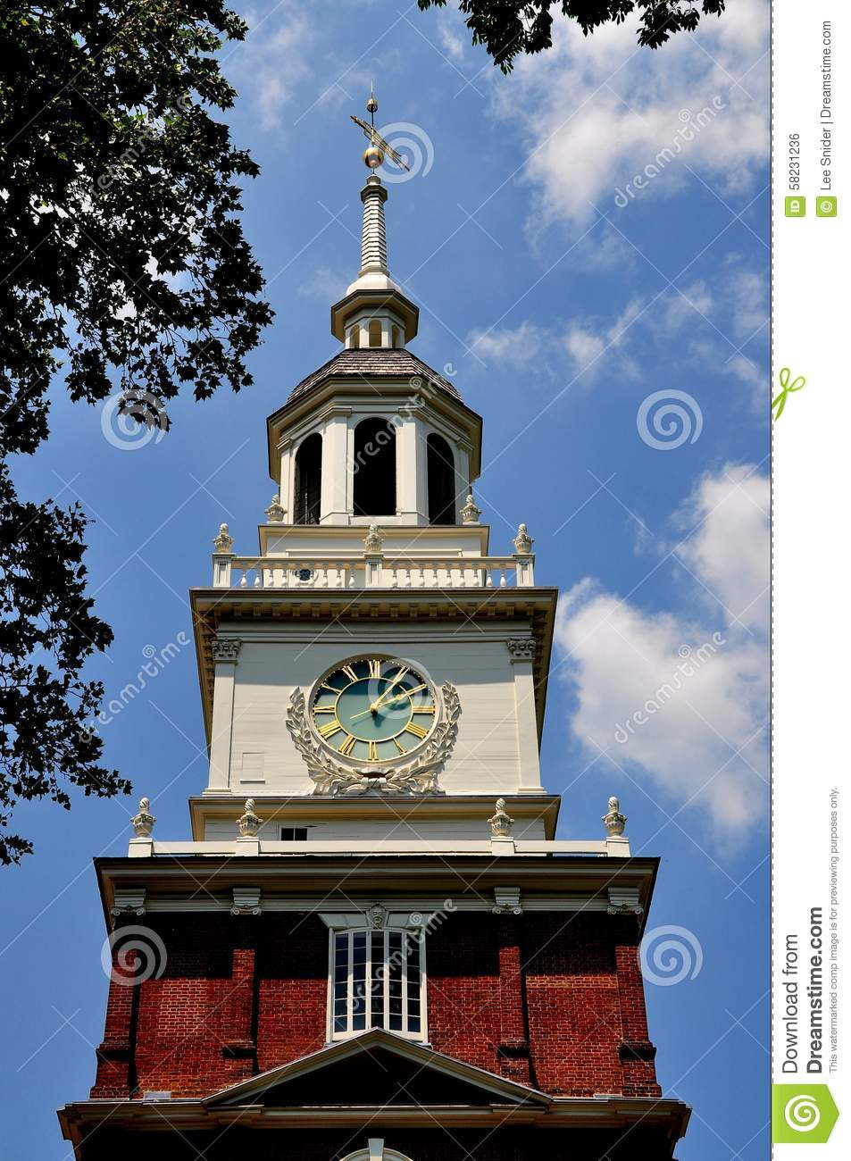Philadelphia Pa Historic Independence Hall Editorial