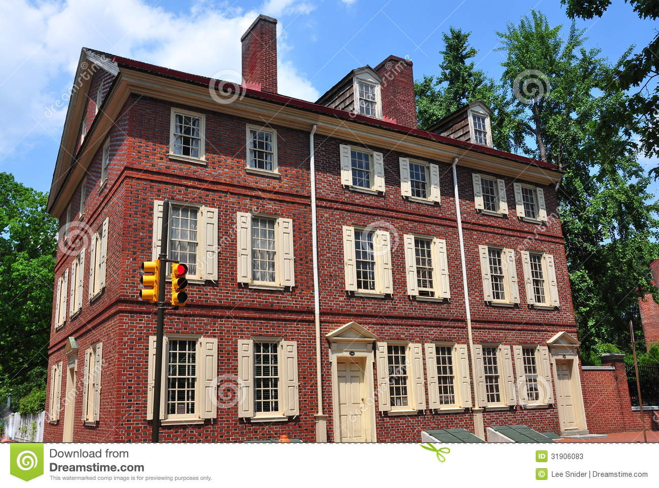 18Th Century House philadelphia, pa: historic 18th century todd house stock photos