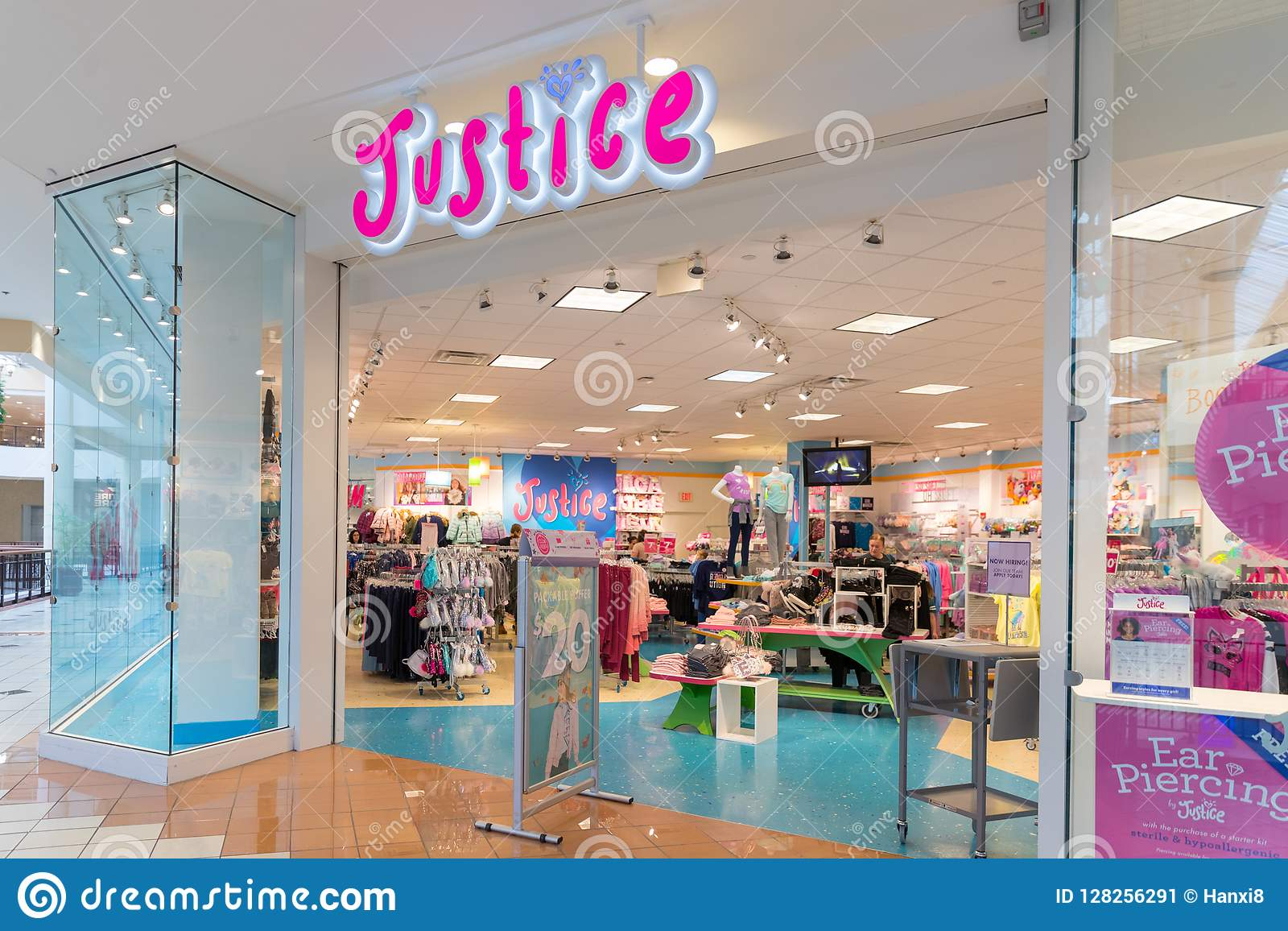 a8d685133 Justice Kids Clothing Store In Center Shopping Mall Editorial Photo ...