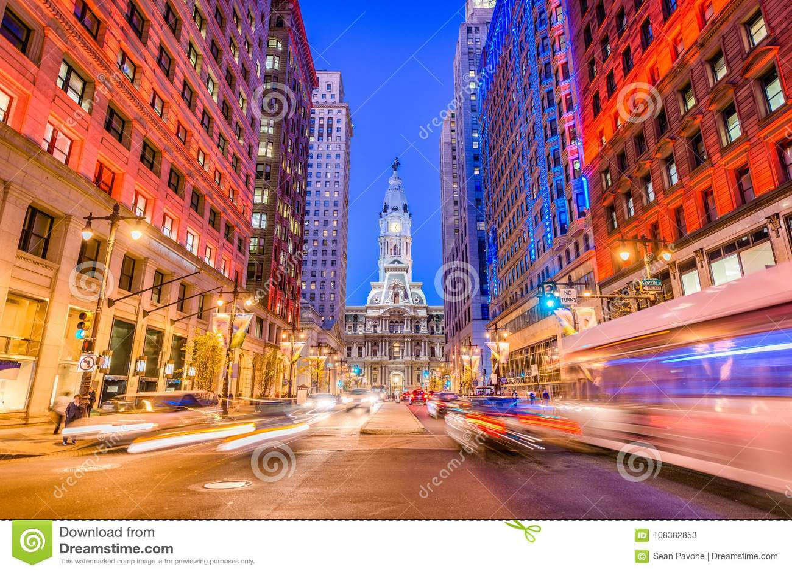 Philadelphia, Pennsylvania, de V.S. op Brede Straat