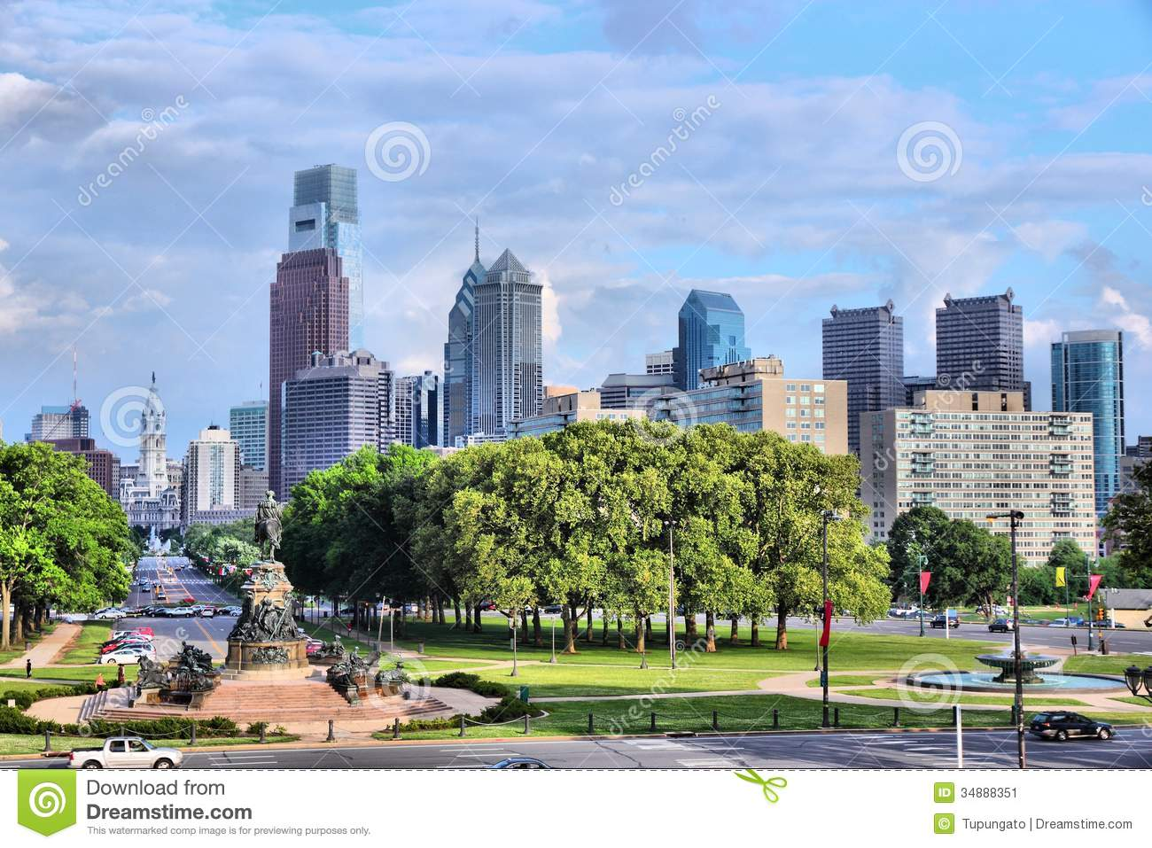 Philadelphia (MS) United States  city images : Philadelphia, Pennsylvania in the United States. City skyline with ...