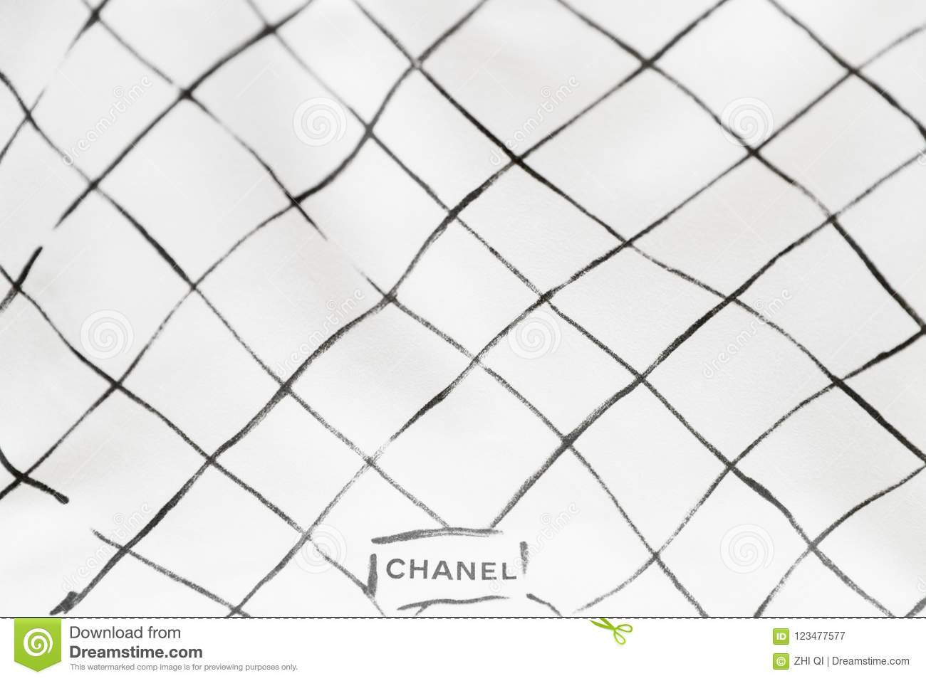 649177f2e7a3 Photo Of Black Chanel Dust Bag Brand Editorial On White Background ...