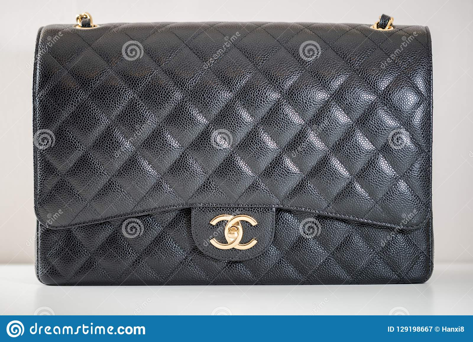 669465481df9 Philadelphia, Pennsylvania, USA, October 18, 2018: Photo of black Chanel  handbag brand Editorial on white background.