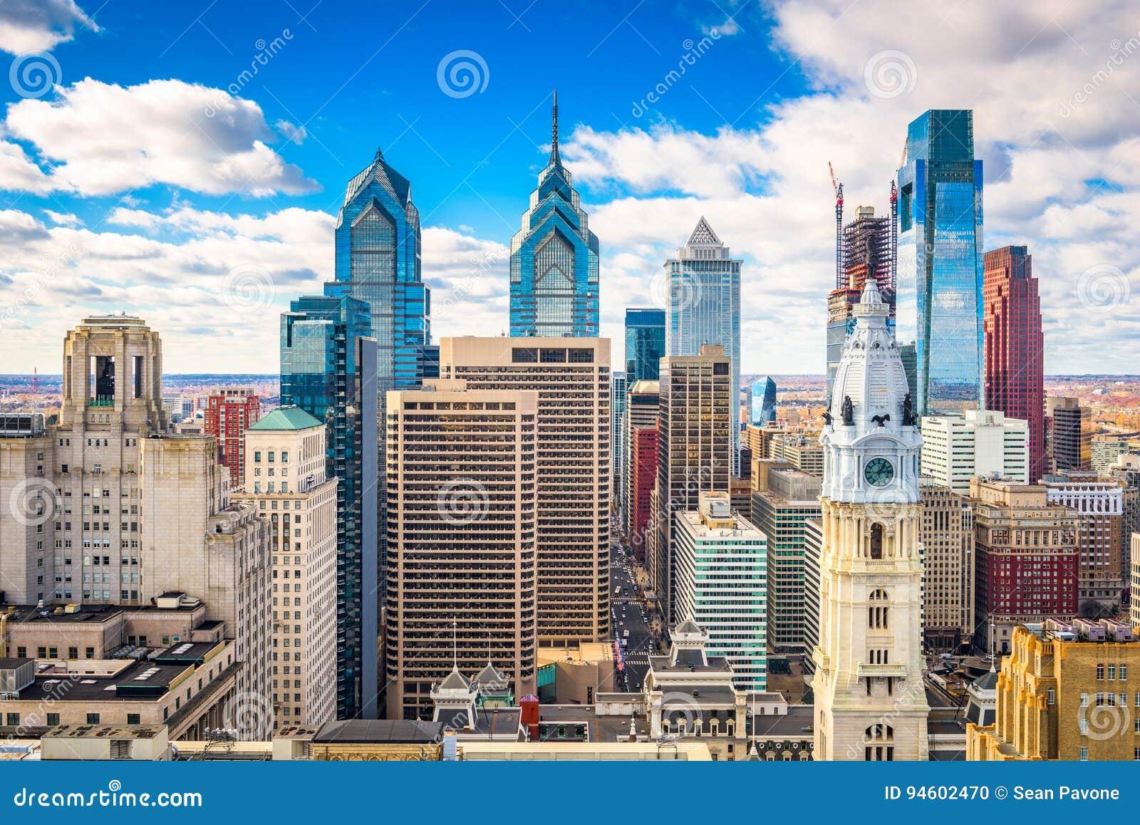 Philadelphia, Pennyslvania, horizonte de los E.E.U.U.