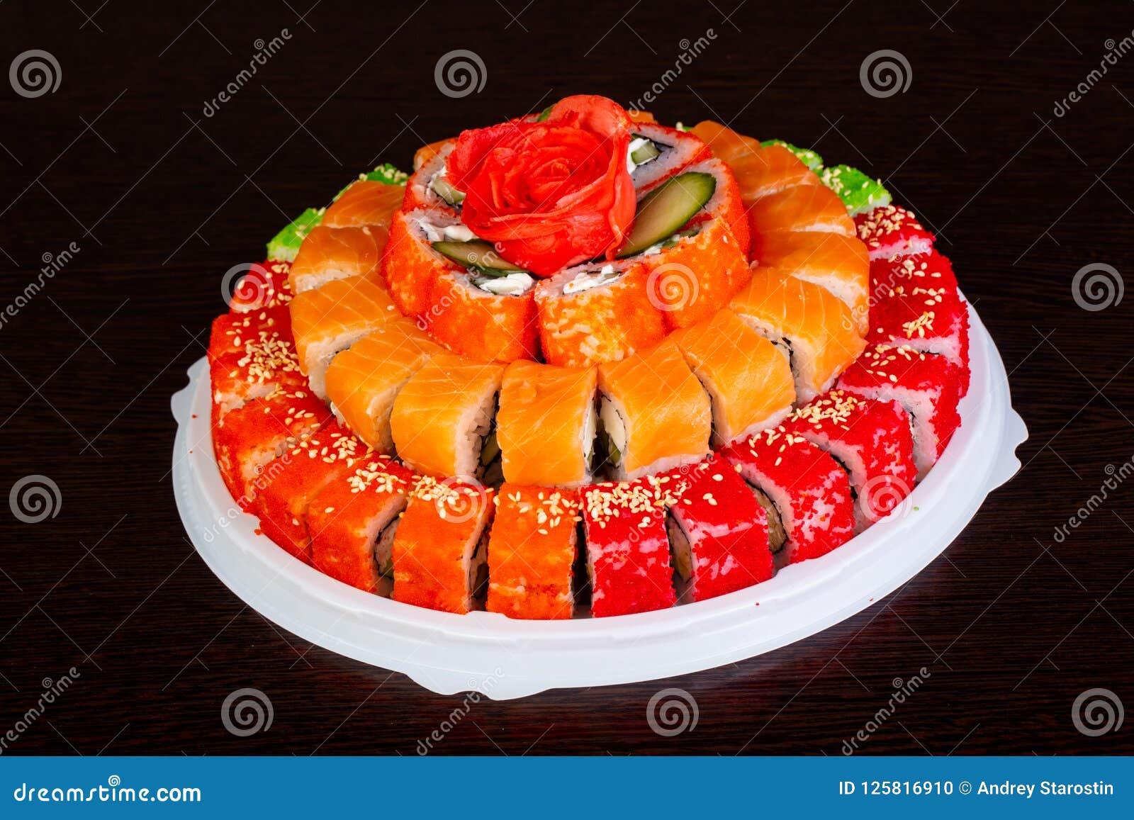 Miraculous Philadelphia Roll Cake Stock Photo Image Of Food Rice 125816910 Birthday Cards Printable Opercafe Filternl