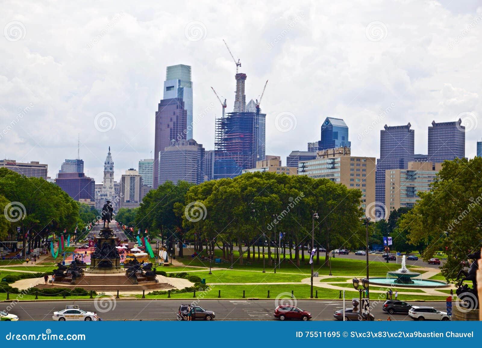 Philadelphia van de binnenstad in Pennsylvania de V.S.