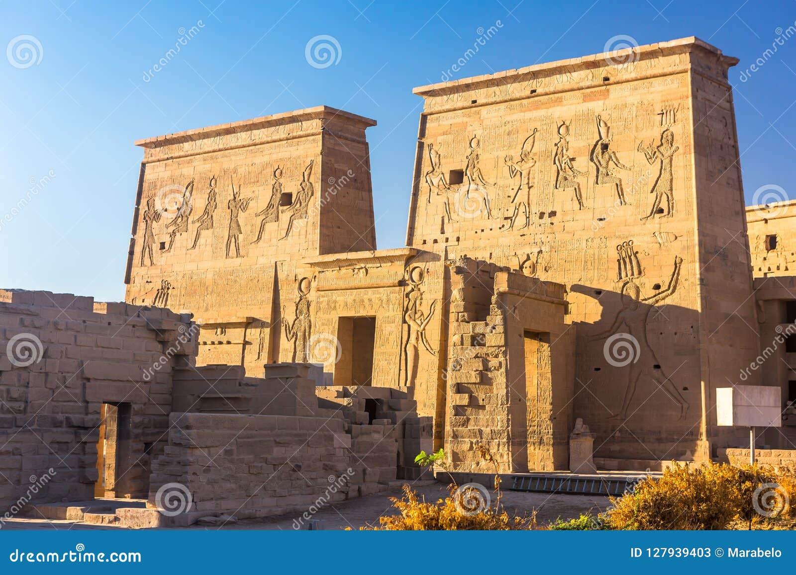 Philae świątynia w Aswan na Nil w Egipt