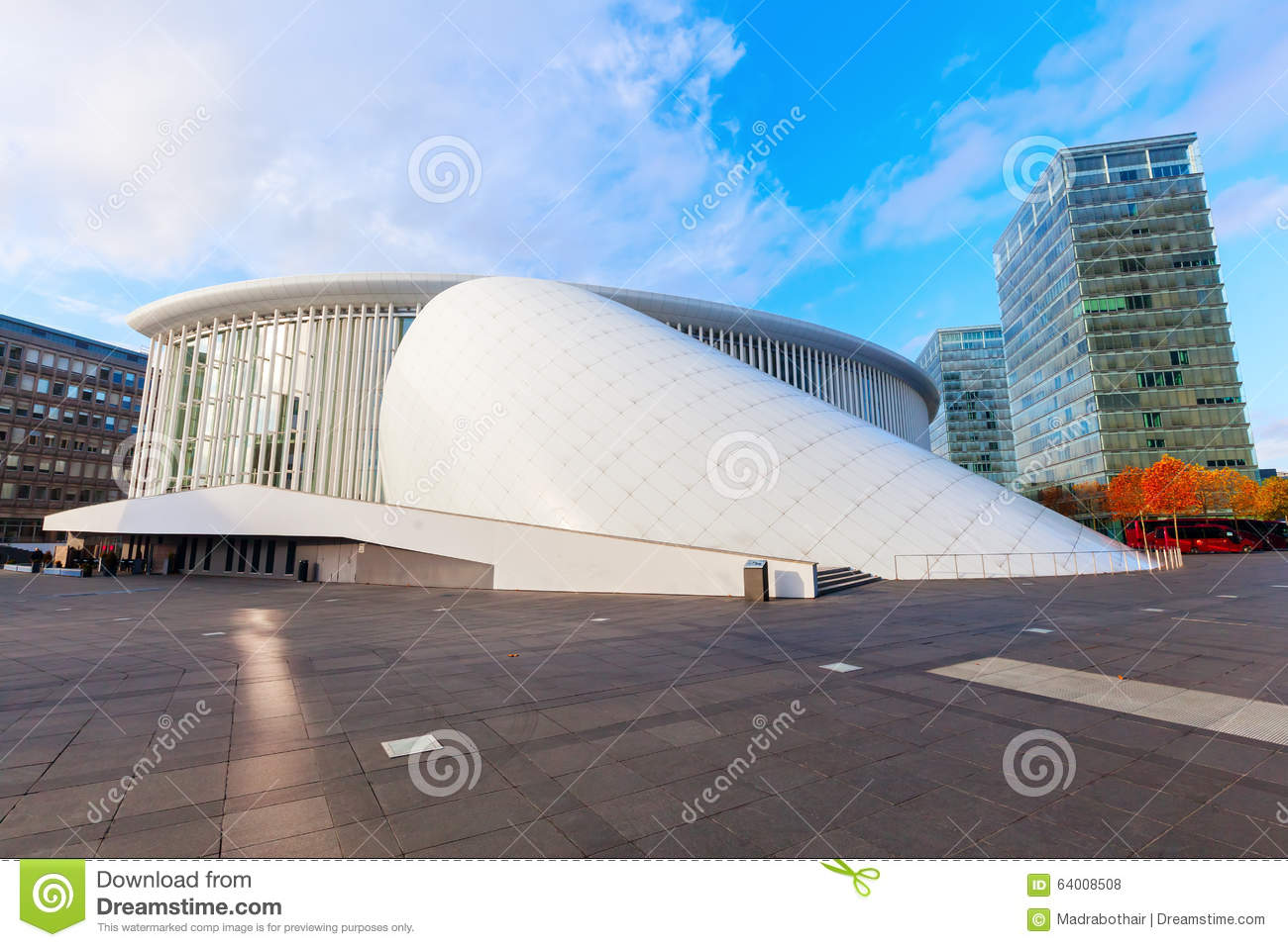 Philharmonie on the Kirchberg Plateau in Luxembourg City