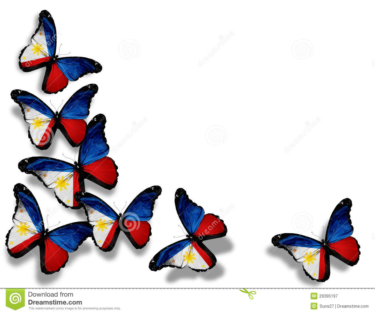 Symbol of philippine flag images symbol and sign ideas philippine flag butterflies isolated on white stock illustration philippine flag butterflies isolated on white buycottarizona buycottarizona