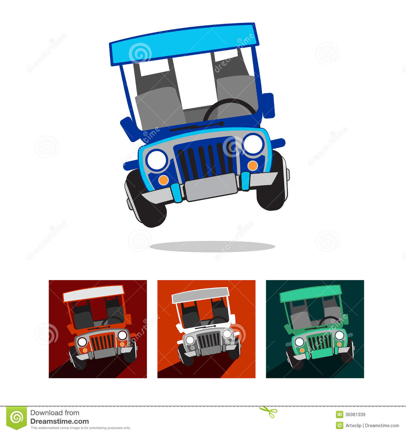 Pinoy Jeepney Stock Vector Illustration Of People Public 49394345
