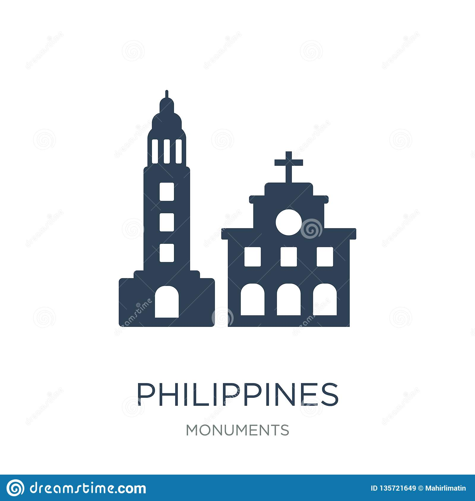 philippines icon in trendy design style. philippines icon isolated on white background. philippines vector icon simple and modern
