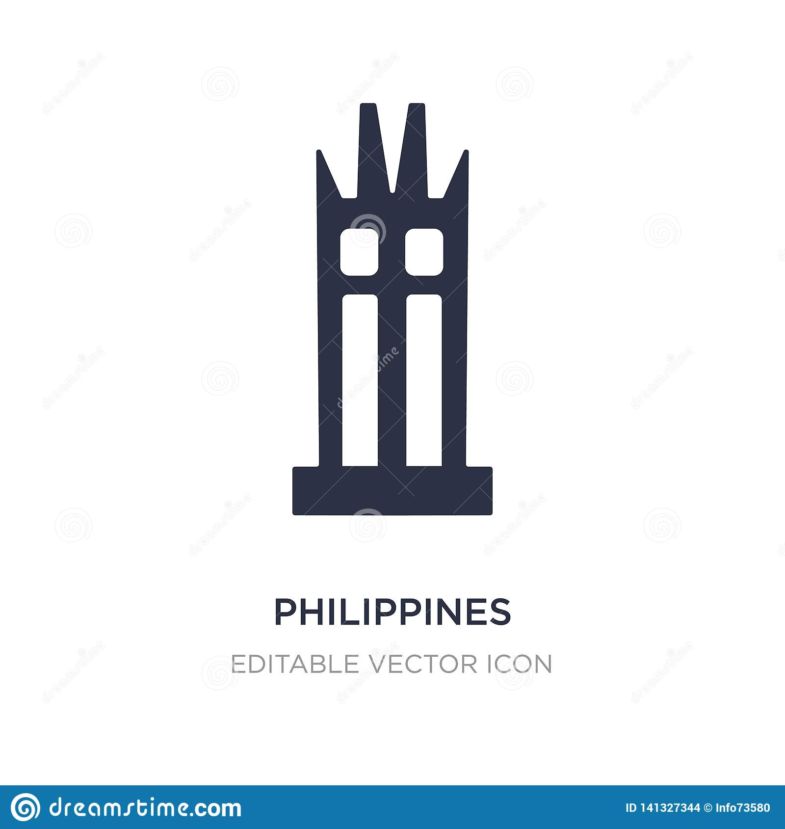 philippines icon on white background. Simple element illustration from Monuments concept
