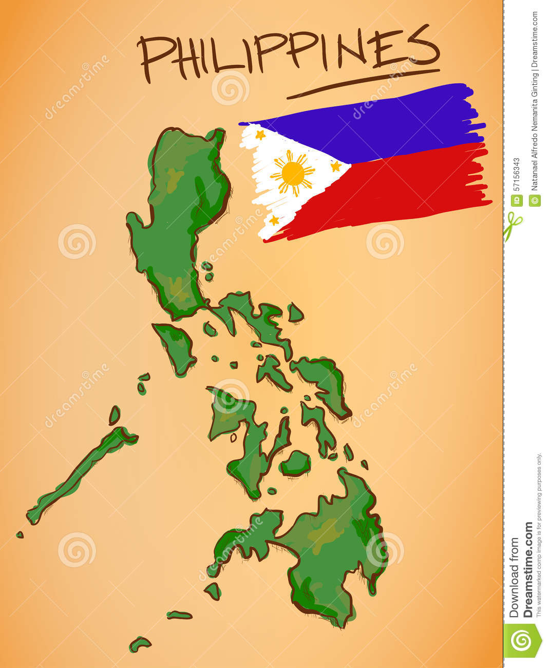 Philippines Map And National Flag Vector Stock Vector Philippines National Flag Coloring