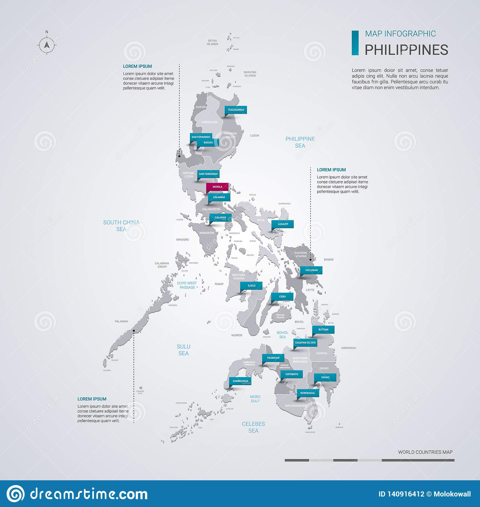 Picture of: Philippines Vector Map With Infographic Elements Pointer Marks Stock Vector Illustration Of Political Land 140916412