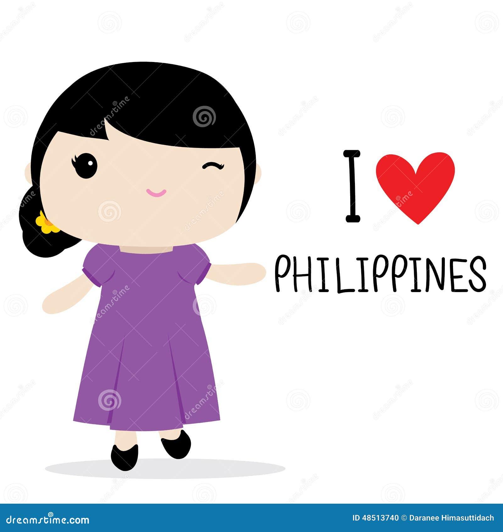 Philippines Women National Dress Cartoon Vector Stock Vector - Image: 48513740 X 23 Costume