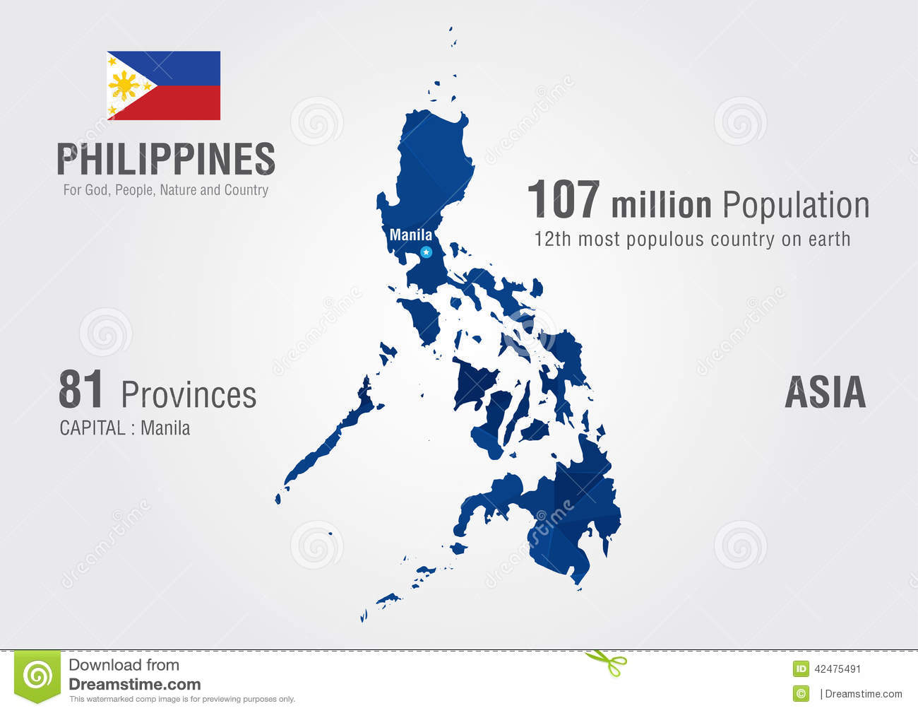 World Map Philippines Philippines World Map With A Pixel Diamond Texture. Stock Image  World Map Philippines