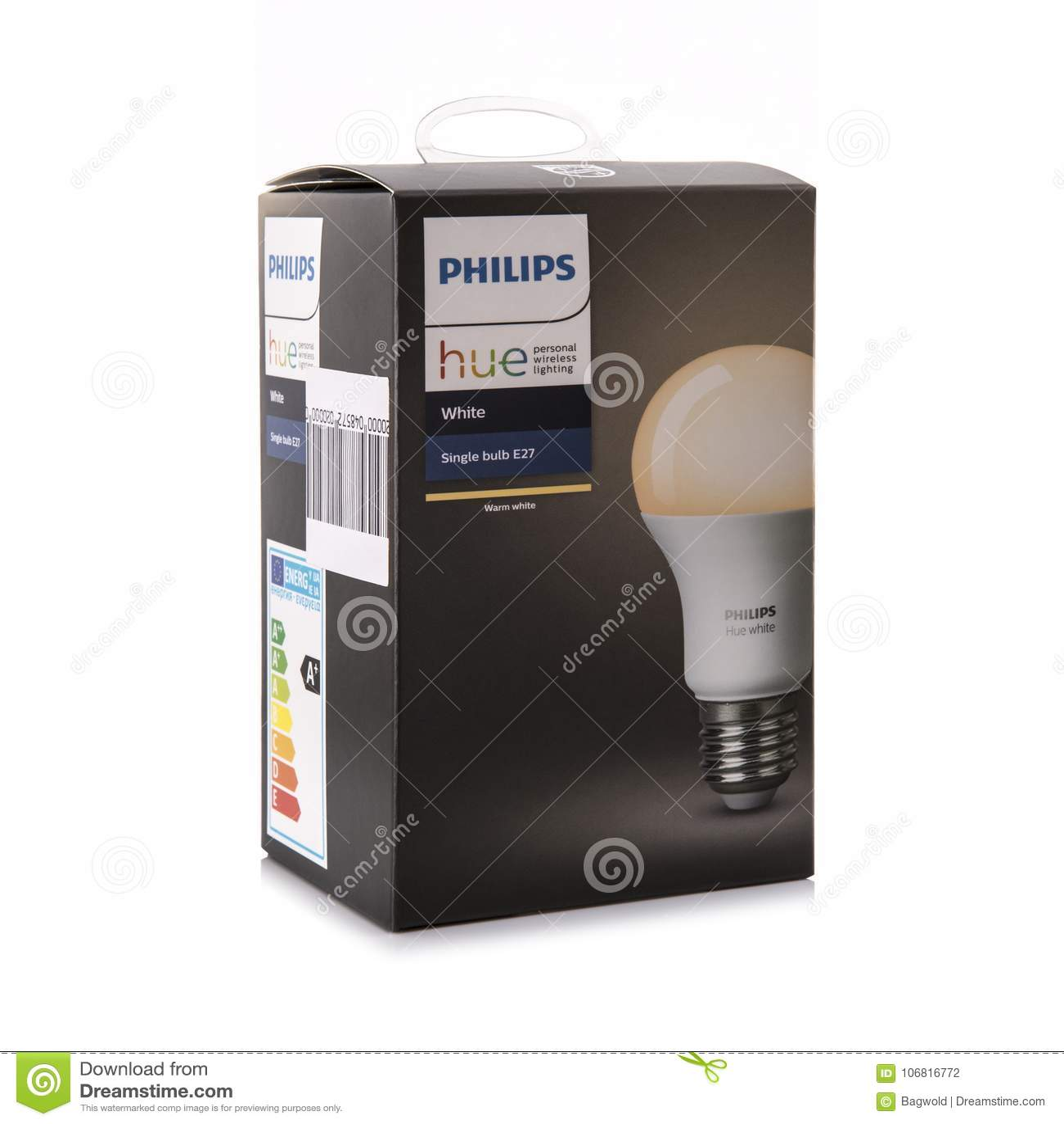 Philips Hue White E27 Smart Bulb, personal wirless lighting
