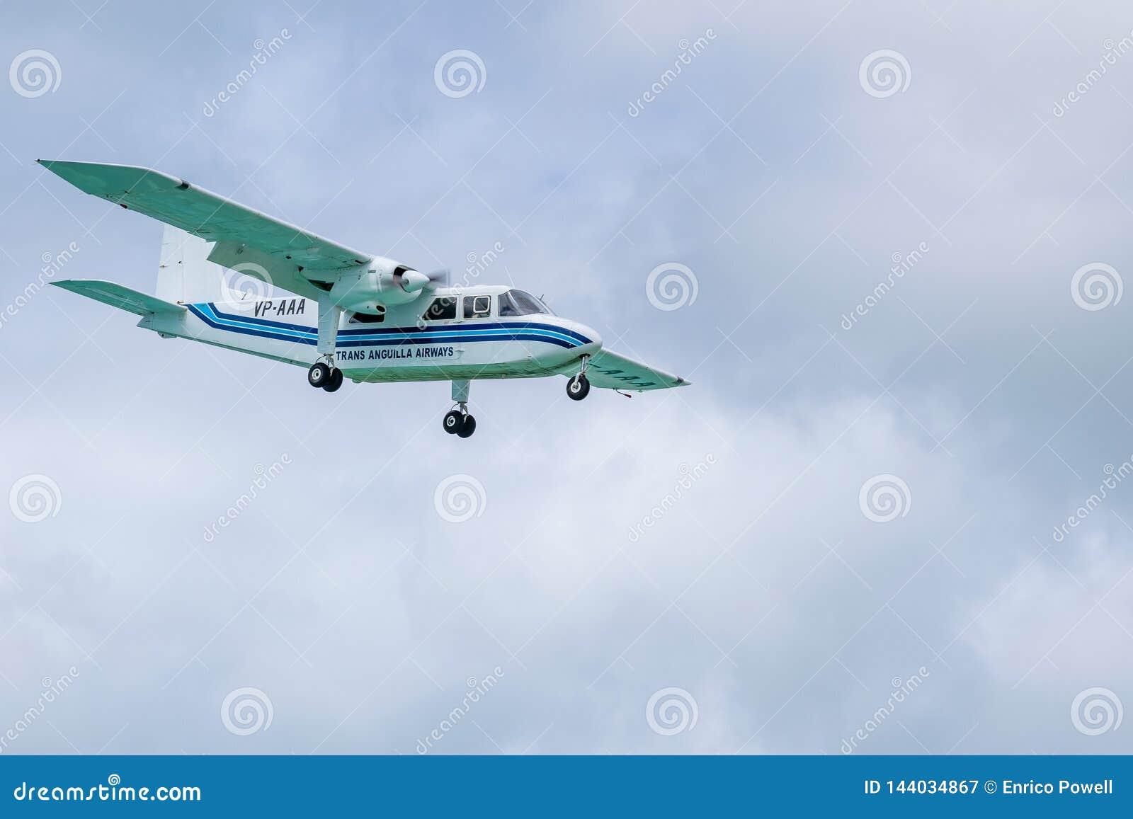 Trans Anguilla Airways VP-AAA, A Britten-Norman BN-2A-21 Islander