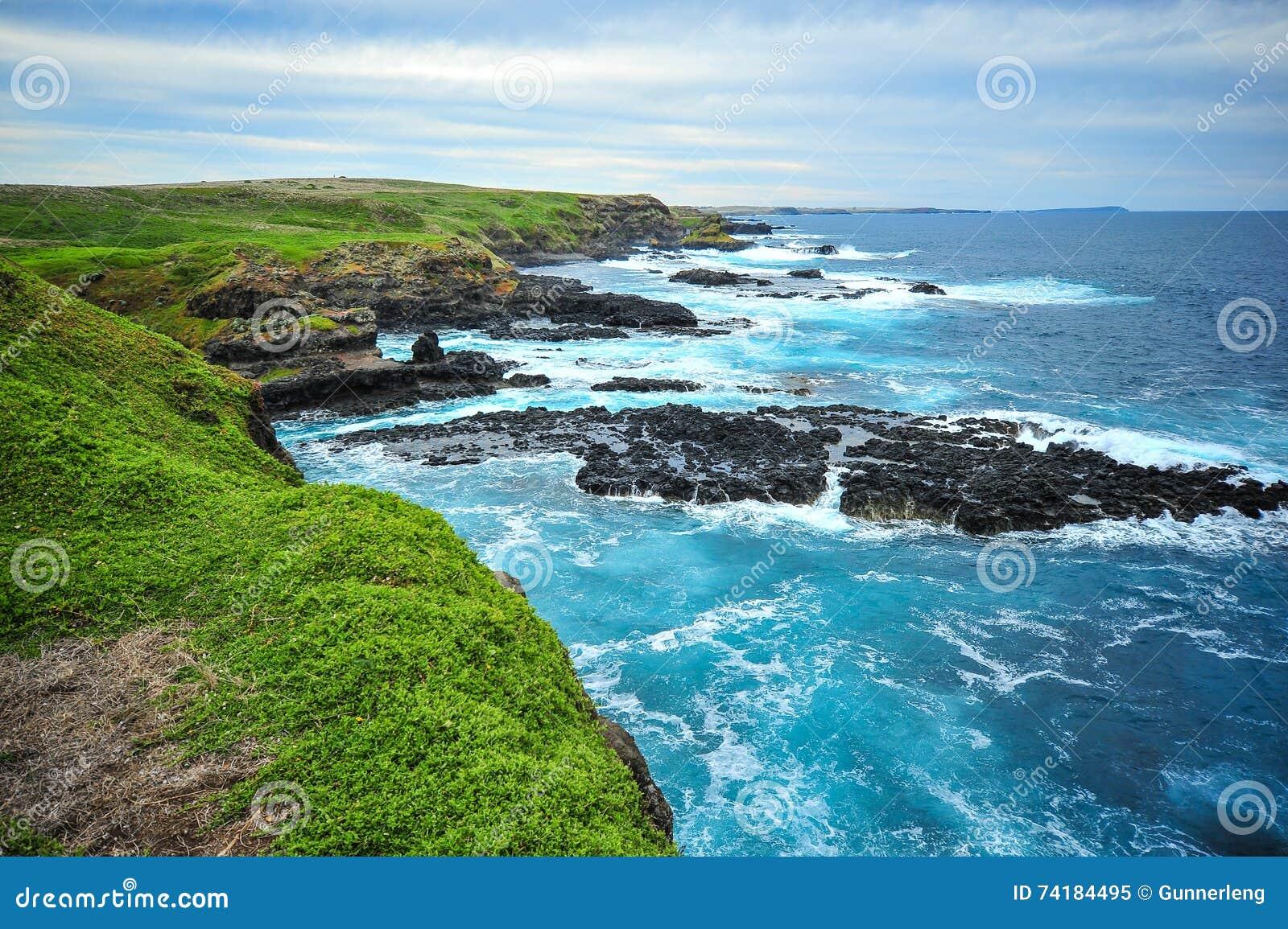 Phillip wyspy obszar przybrzeżny krajobraz Nobbies przegapia fok skały