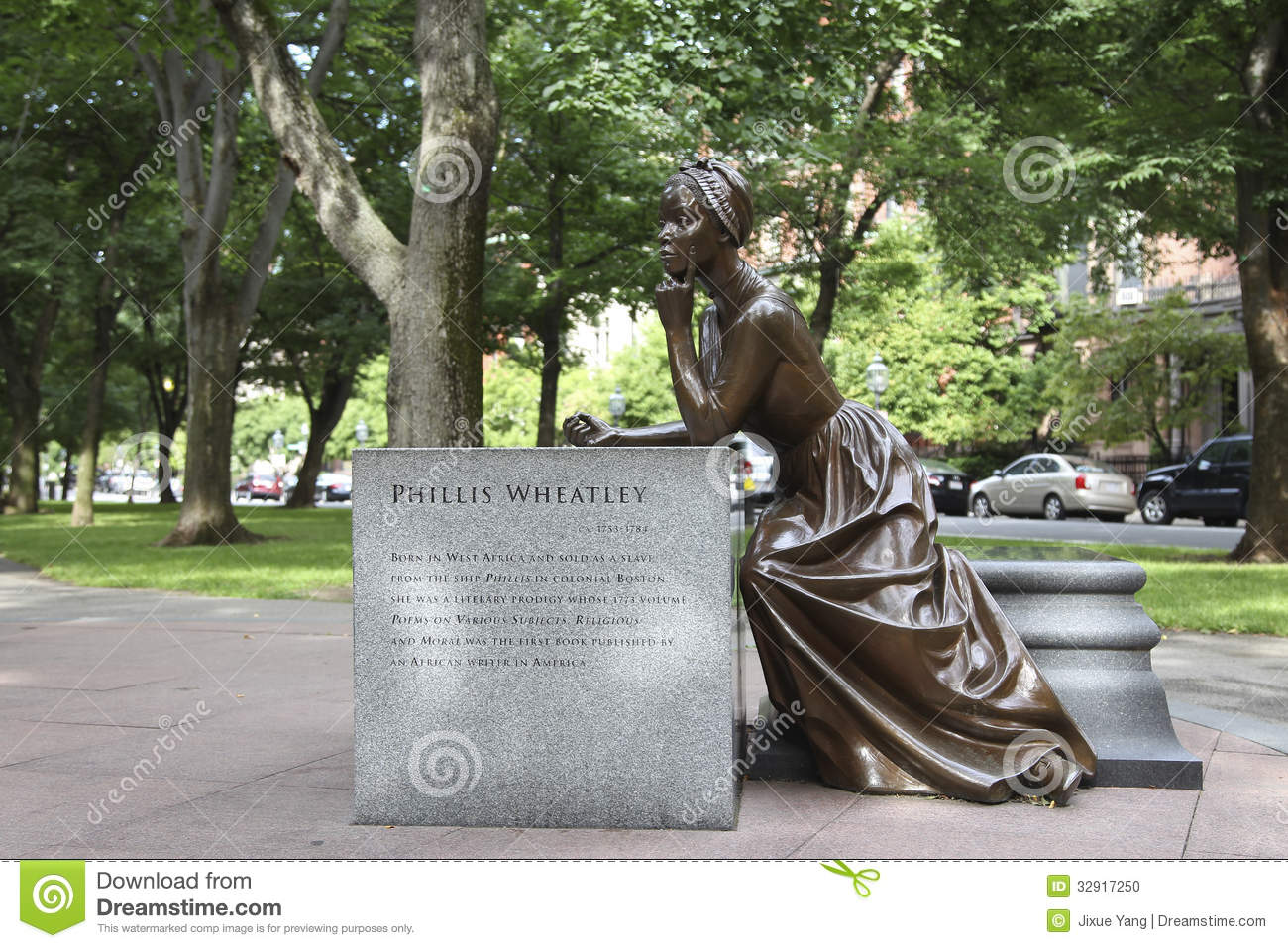 Phillis wheatley statue stock photo image 32917250 for Statue jardin moderne