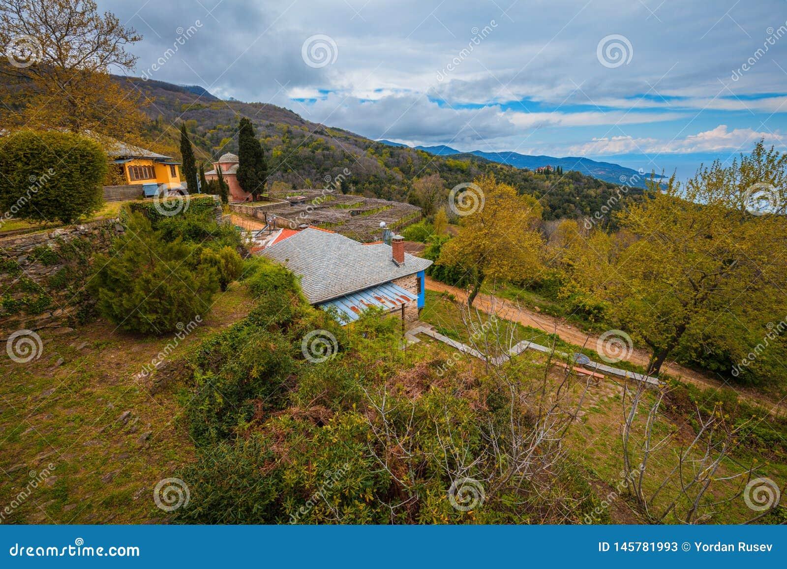 Philotheou-Kloster auf dem Mount Athos