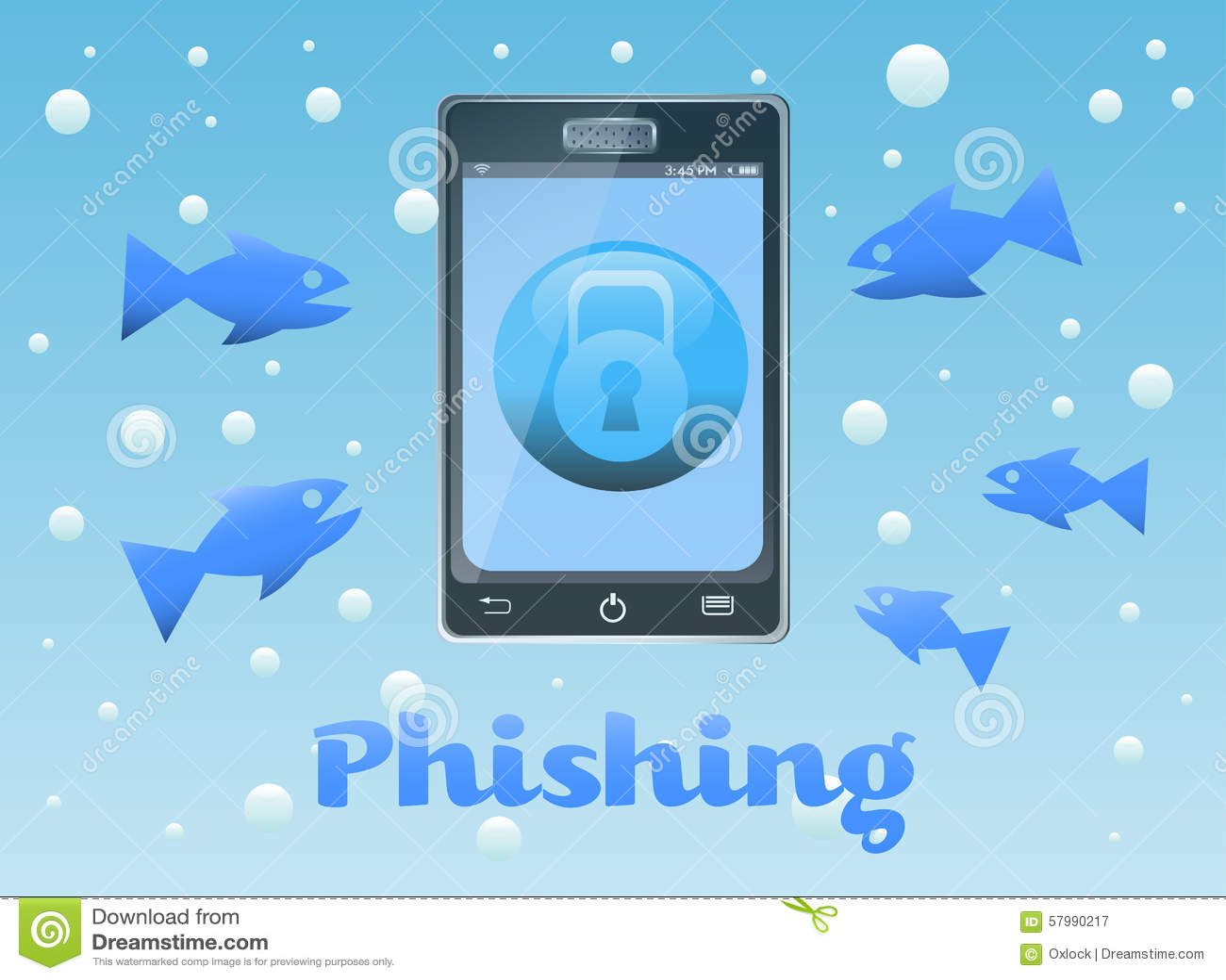 Phishing Stock Vector Image 57990217