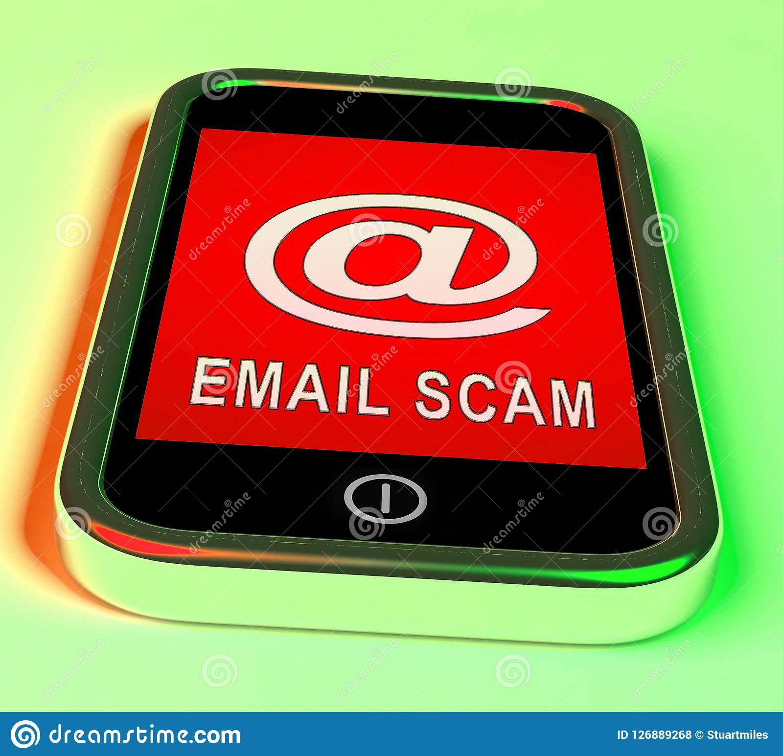 Phishing Scam Email Identity Alert 3d Rendering Stock