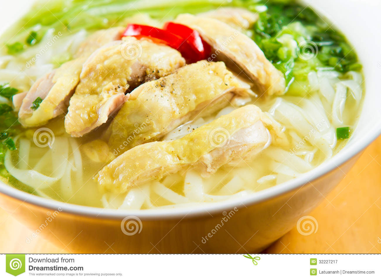 Pho Ga, Chicken Noodle Soup Royalty Free Stock Photography - Image ...