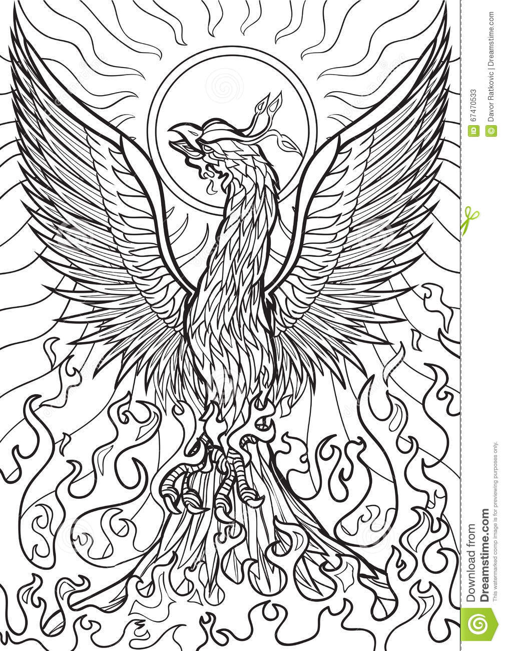 coloring pages of phoenix - photo#22