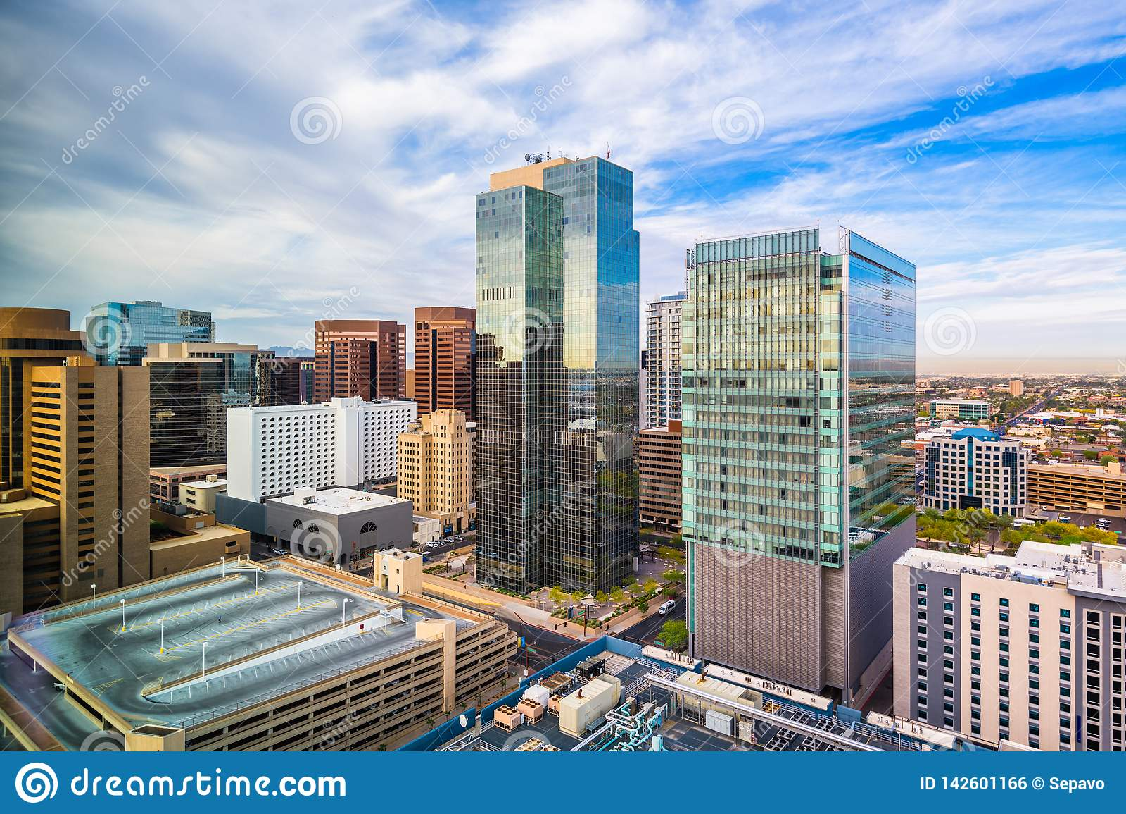 Phoenix, Arizona, paisaje urbano de los E.E.U.U.
