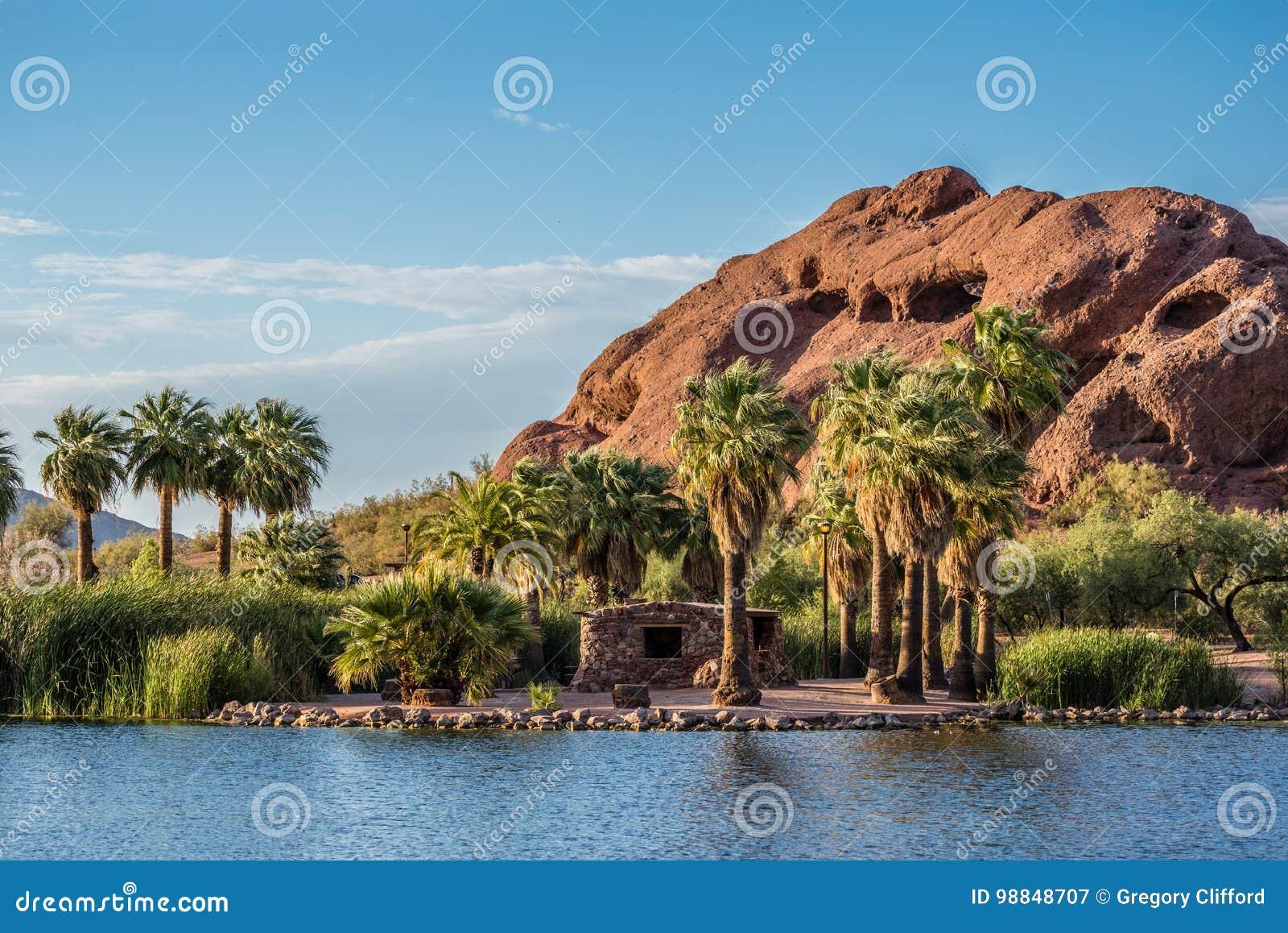 Papago Park Ramada stock image. Image of america, mountain - 98848707