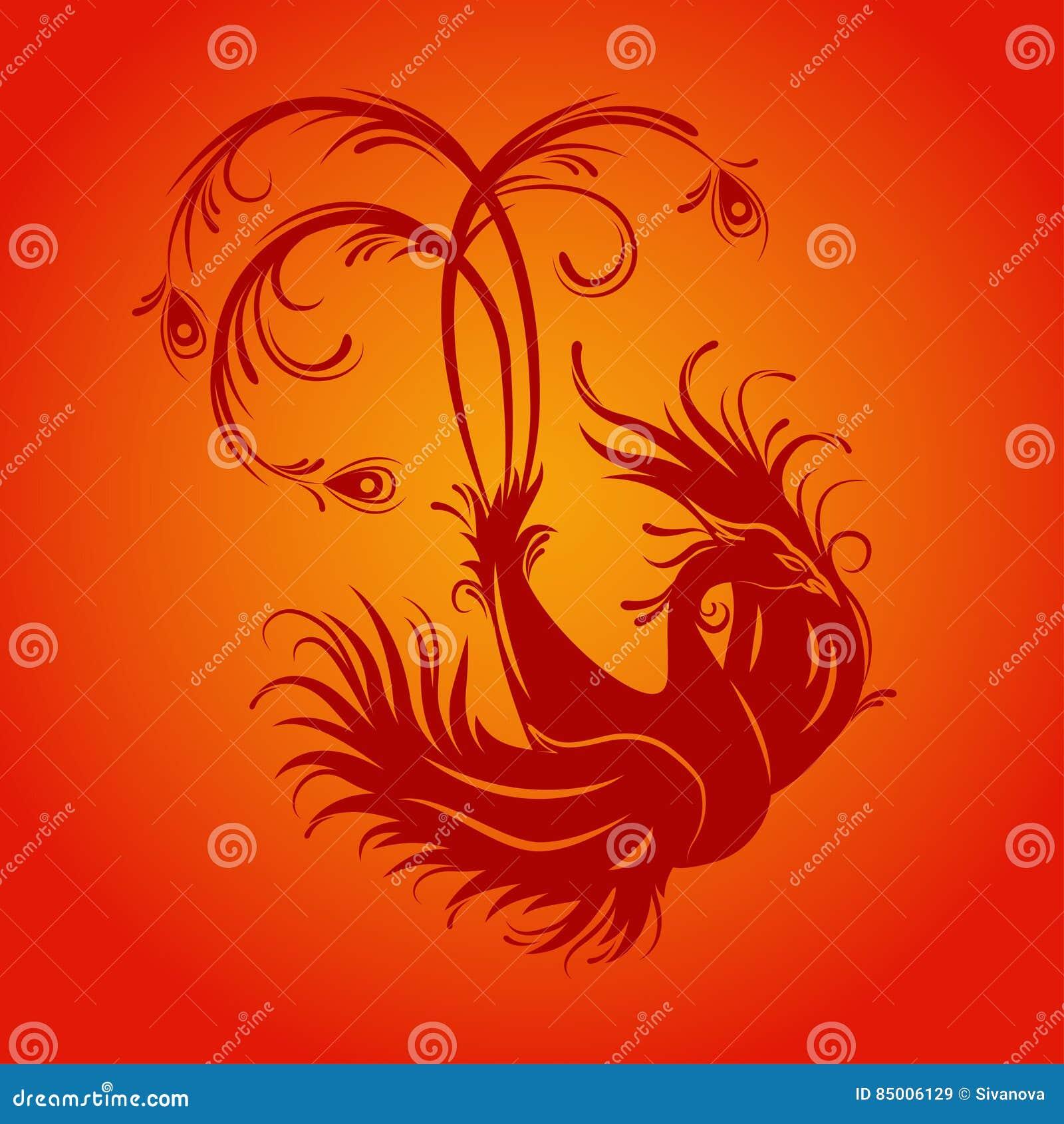 Phoenix bird  stock vector  Illustration of ancient, design