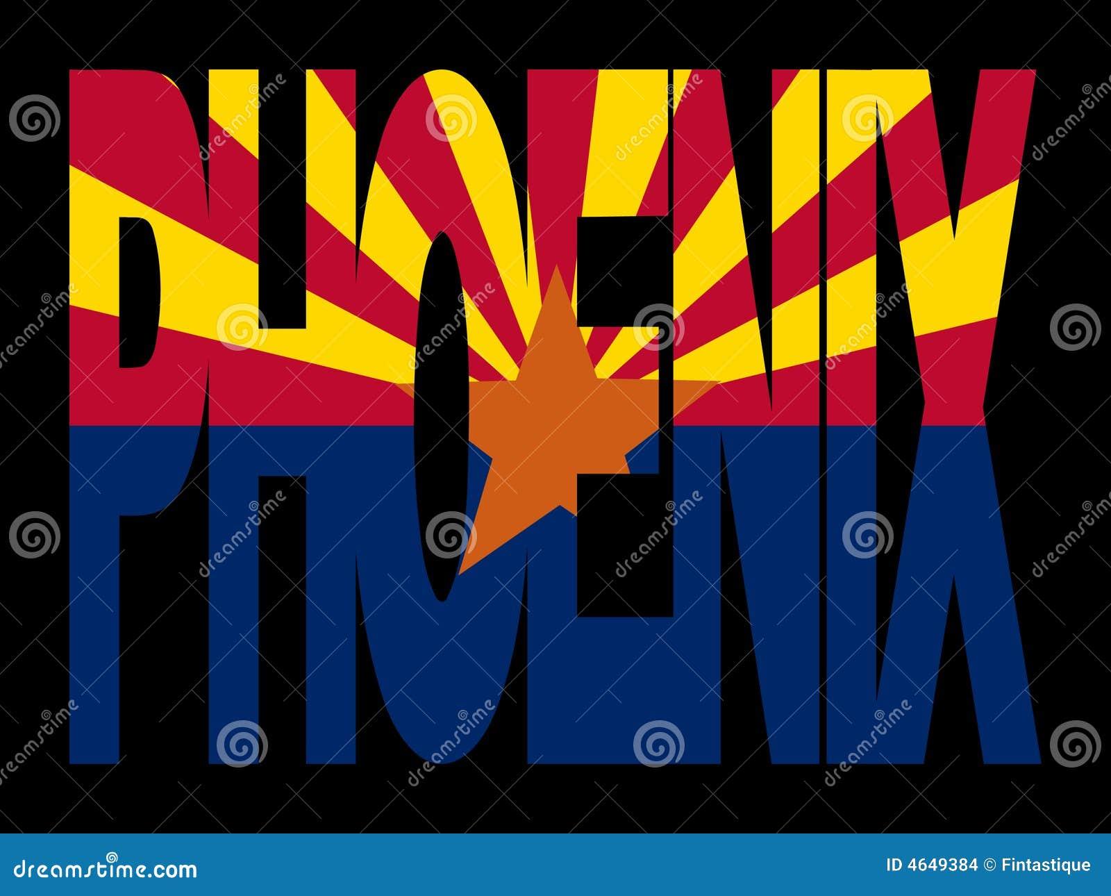 Phoenix com bandeira do Arizona