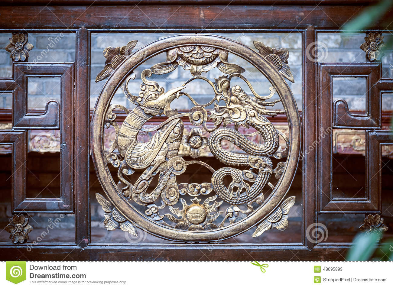 Fenghuang (Phoenix) China  City new picture : FENGHUANG, CHINA Detail of ornate phoenix and dragon symbol at the ...