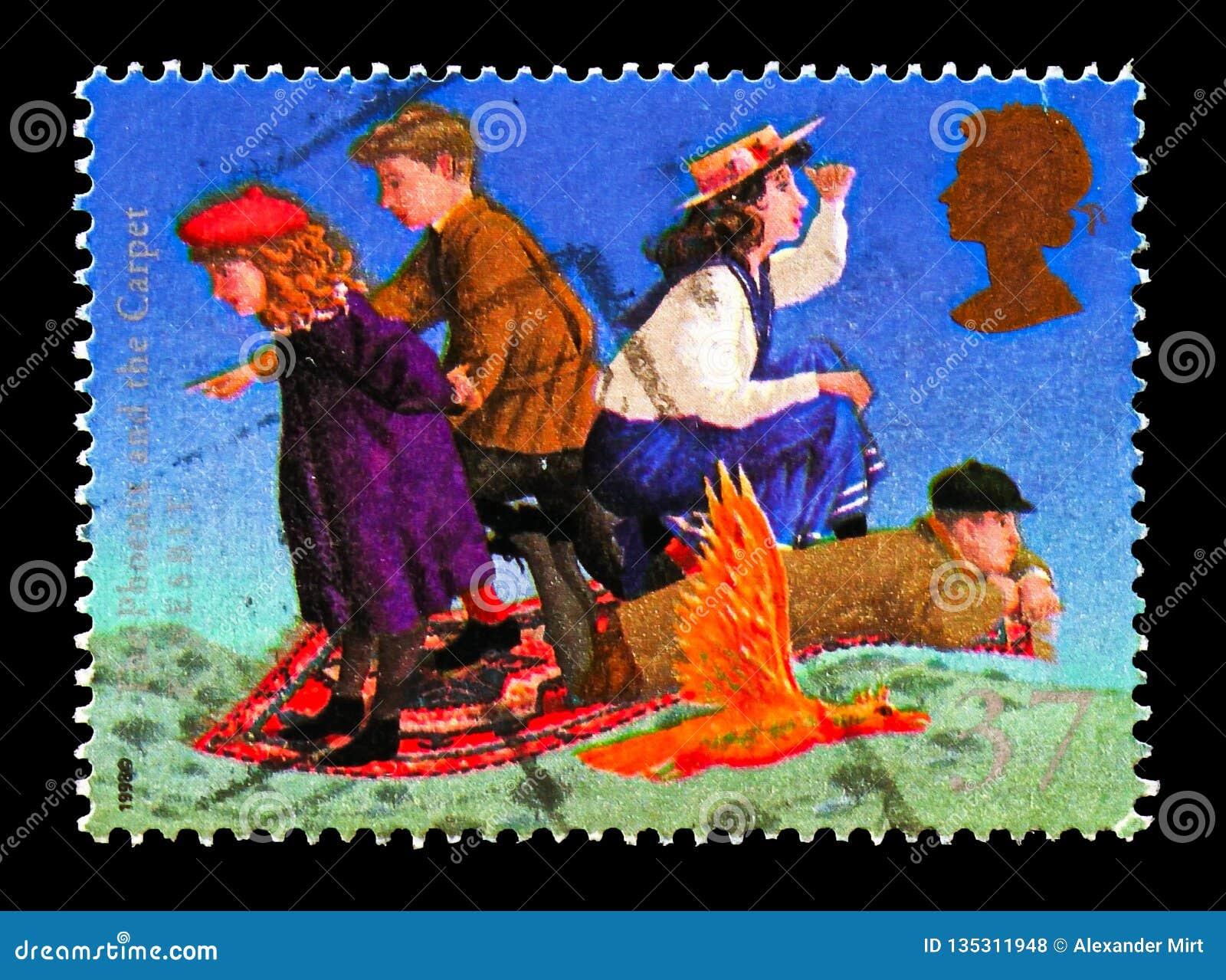 Phoenix ed il tappeto (E Nesbit), serie dei romanzi della fantasia dei bambini famosi, circa 1998