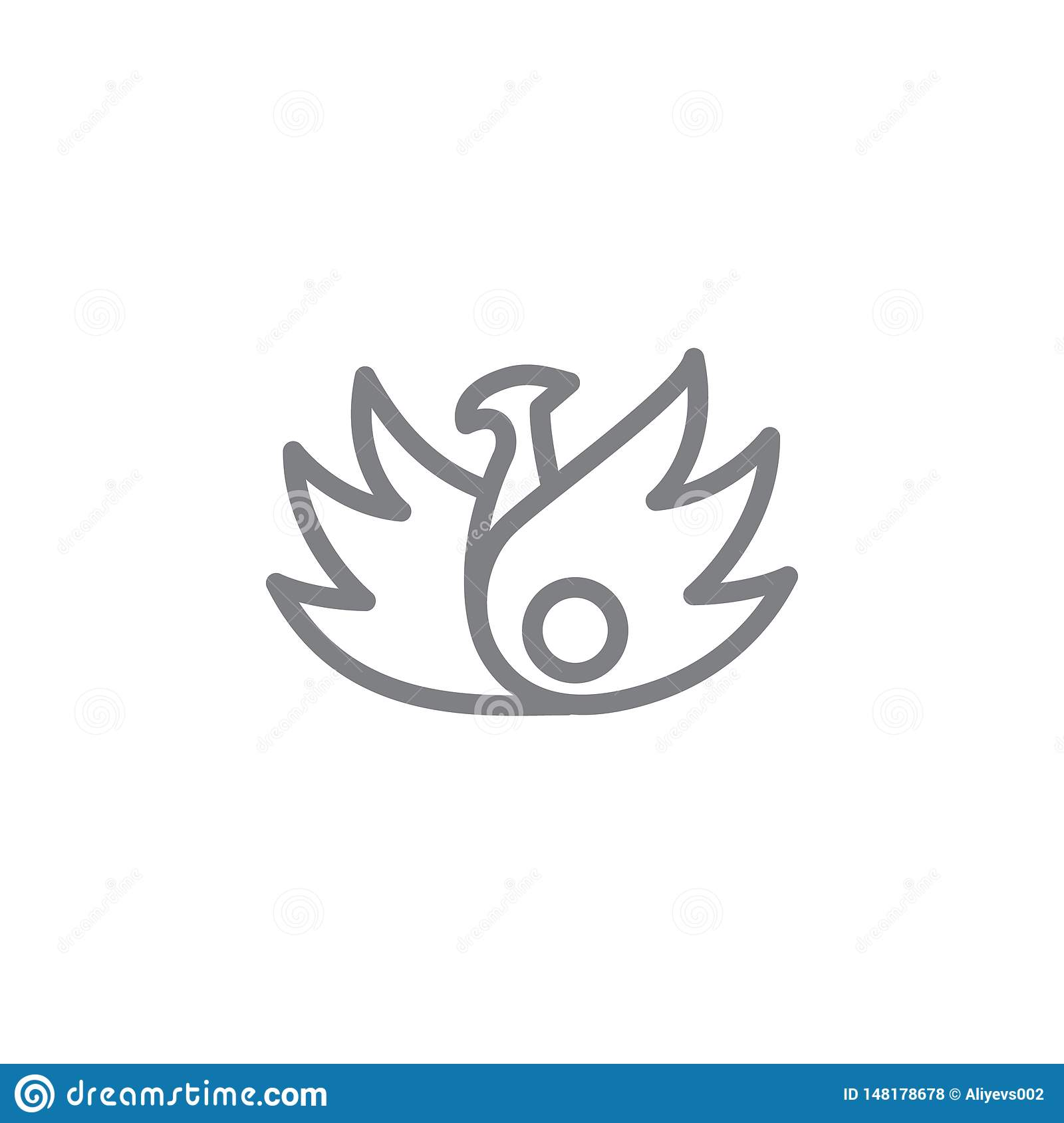Phoenix Icon  Element Of Myphology Icon  Thin Line Icon For