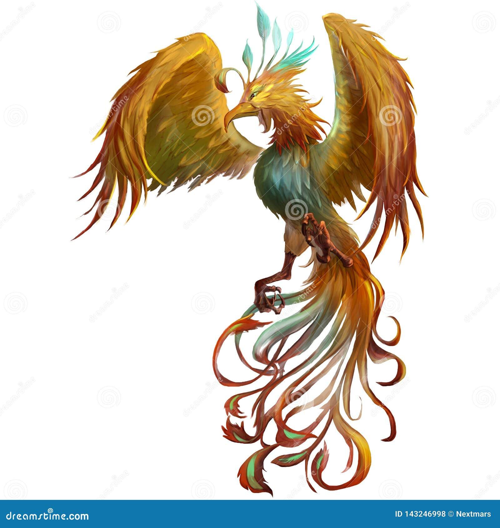 Phoenix, les créatures mythiques de mystère des Moyens Âges et médiéval