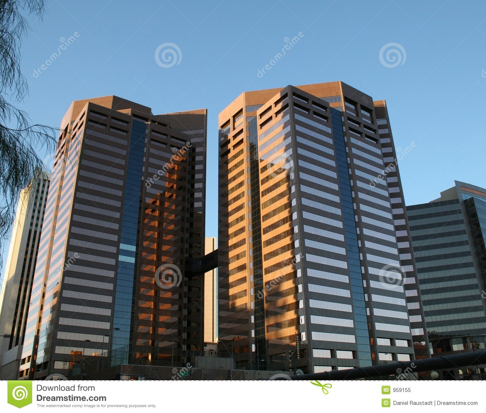 Phoenix Modern Downtown Office Buildings Stock Image