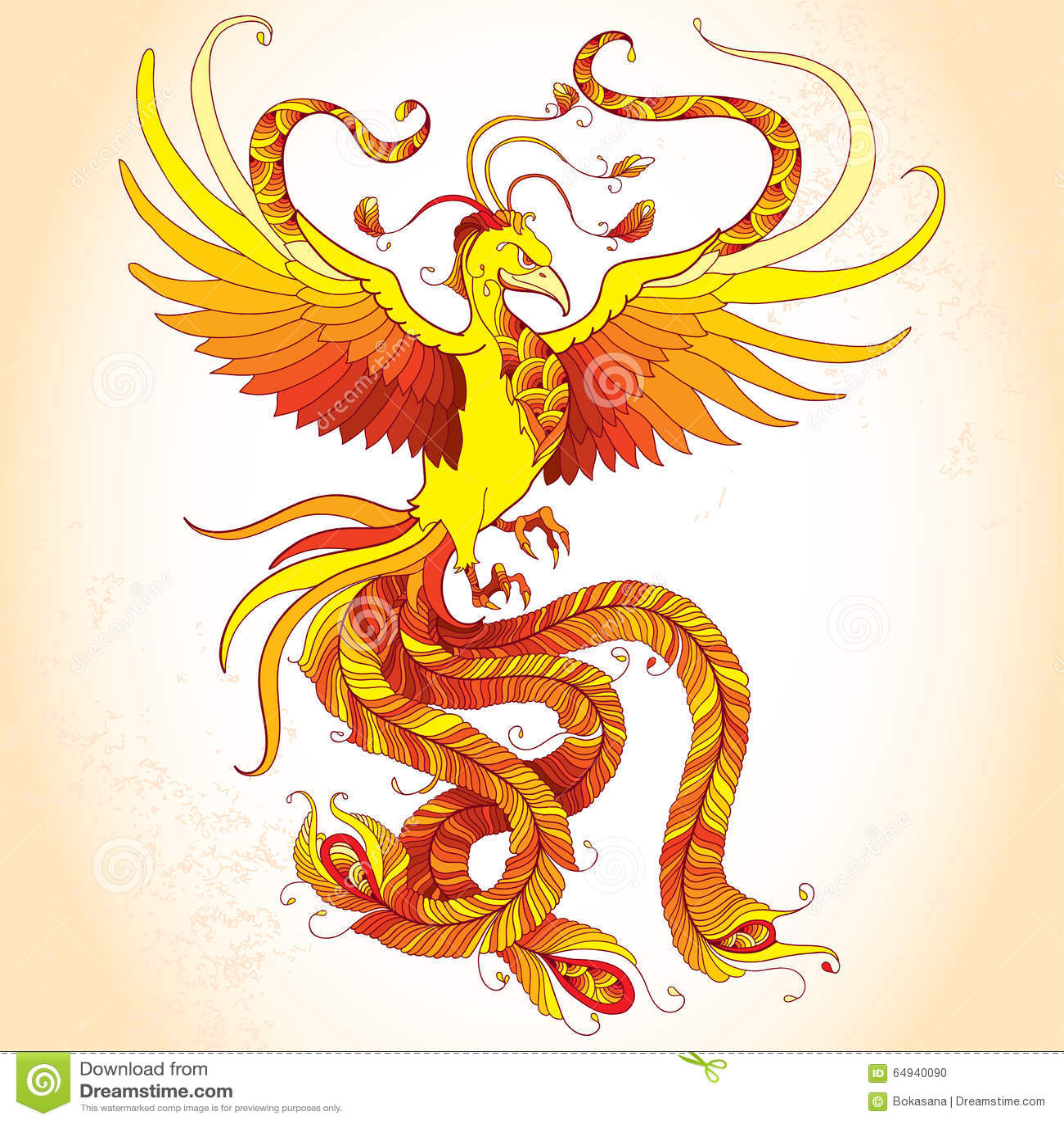 Phoenix mythologique ou phenix sur le fond beige oiseau l gendaire qui est cycliquement ren - Photo de phenix ...