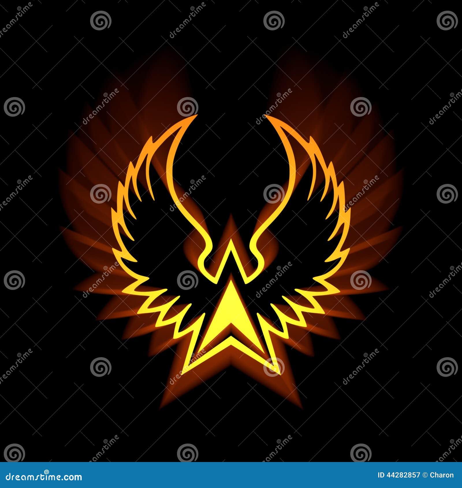 thumbs.dreamstime.com/z/phoenix-symbol-mit-aufflac...