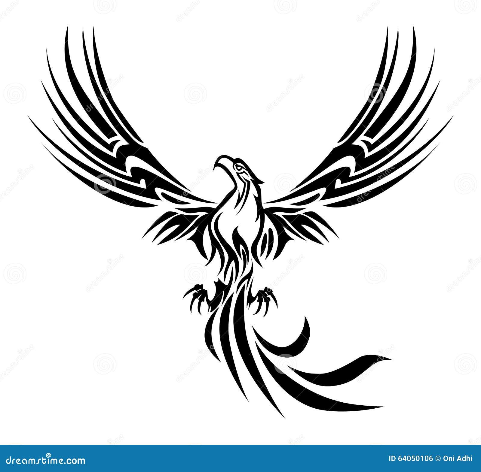 Phoenix Tattoo Stock Illustration Image Of Fire Flying 64050106