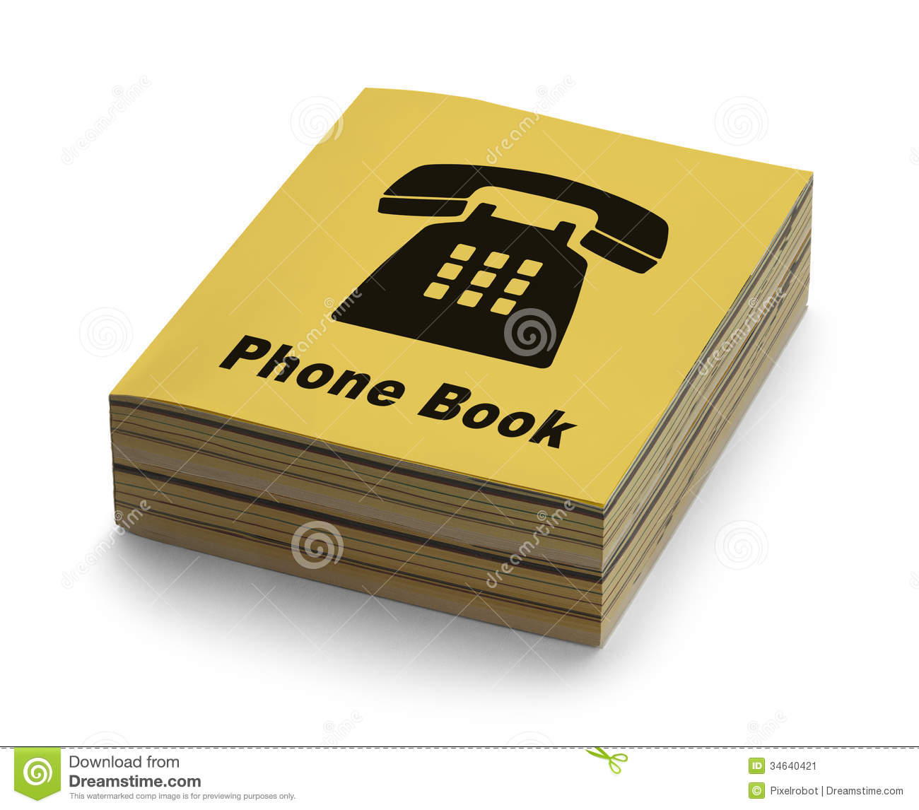 Book With Black And Yellow Cover : Phone book stock image