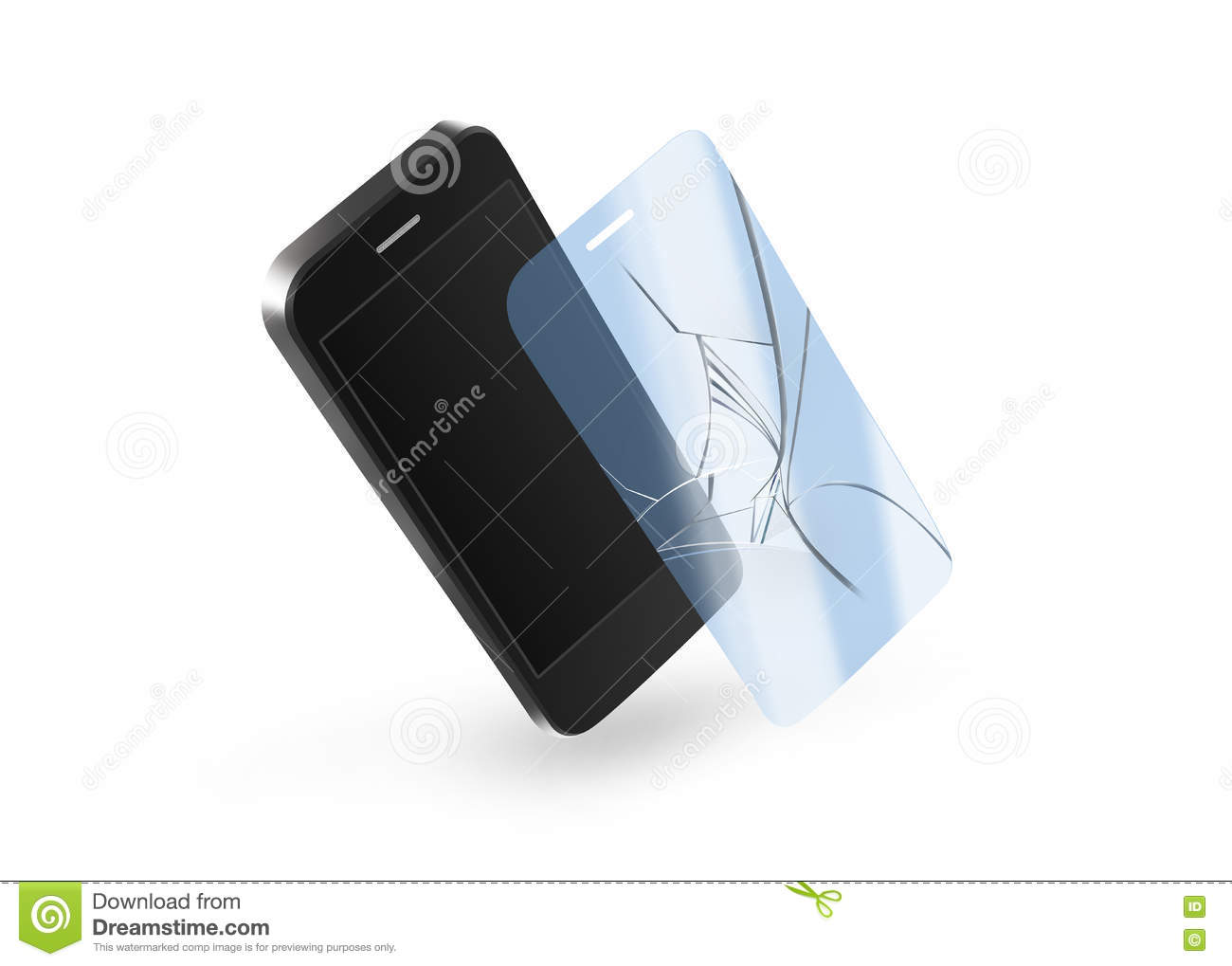 Phone Protection Film On Screen. Smartphone Display ...