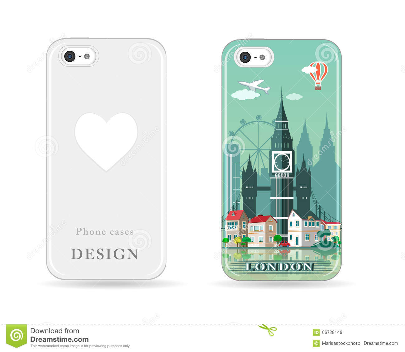Phone case design with colored print modern london city - Design case moderne ...
