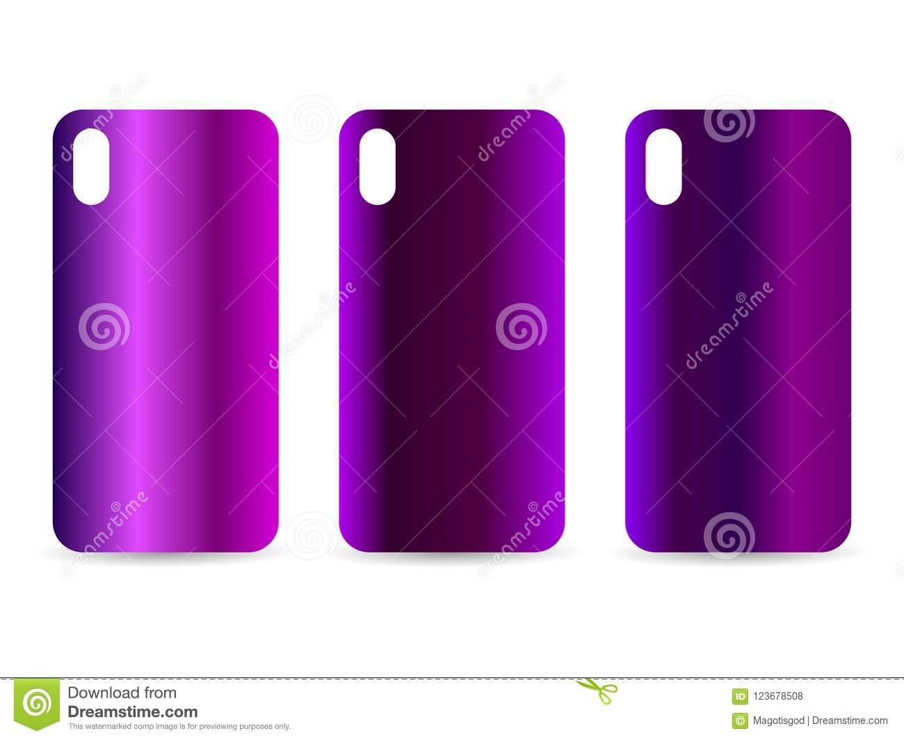 Phone Case Set With Gradient Backgrounds  Blurred Shades