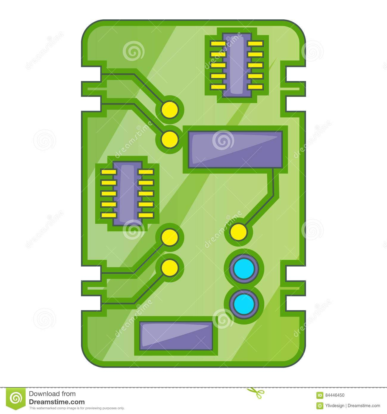 Cartoon Circuit Board Stock Illustrations 311 Different Types Of Boards Isolated On A White Background Phone Icon Illustration